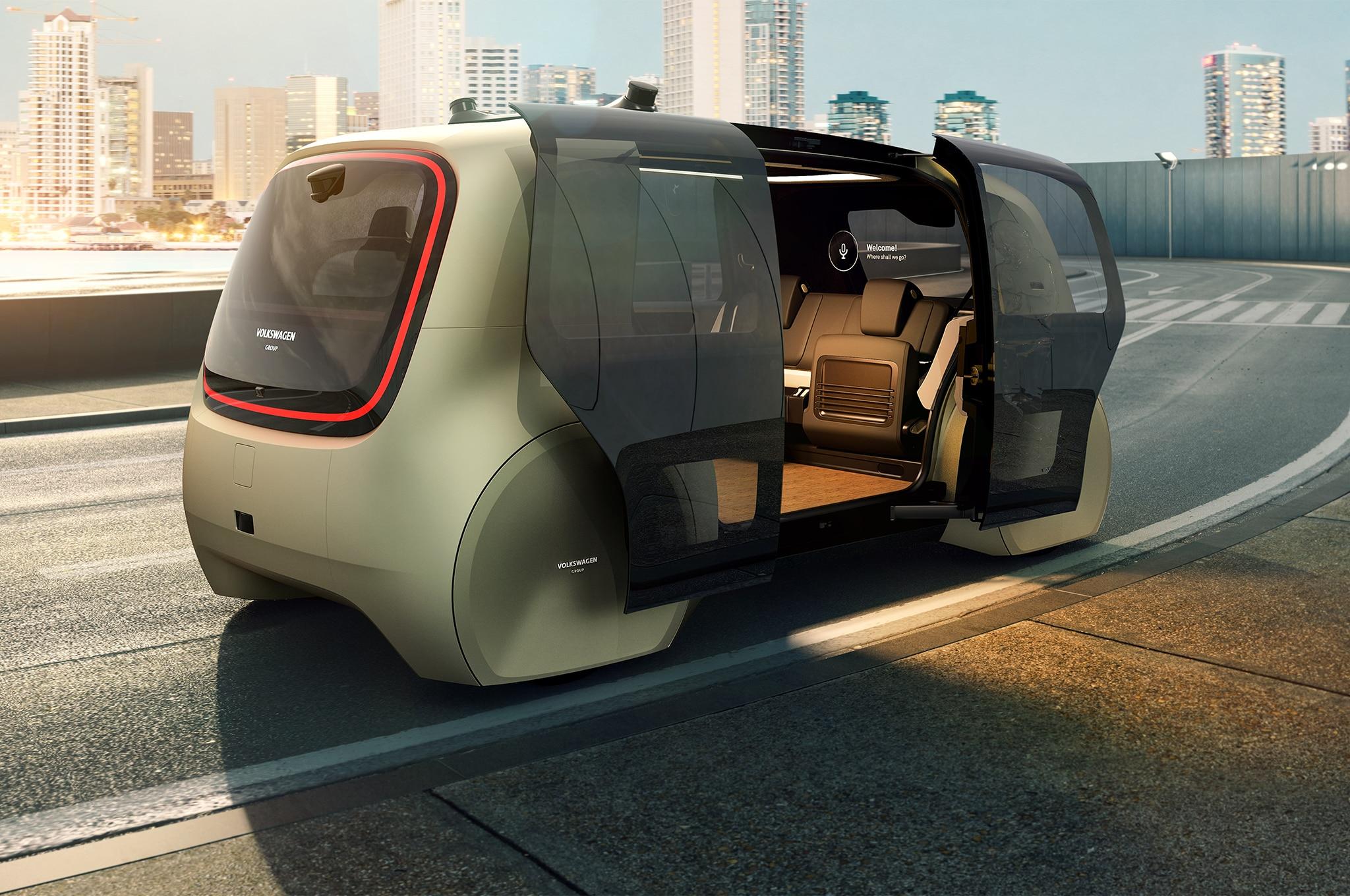 Volkswagen Group Sedric Concept Rear Three Quarter