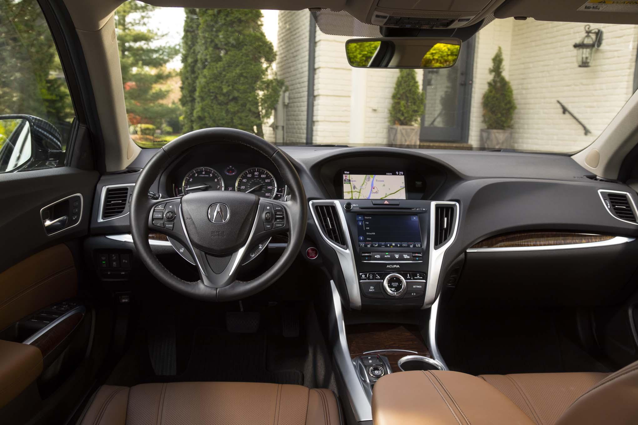acura tlx   interior view motor trend en espanol