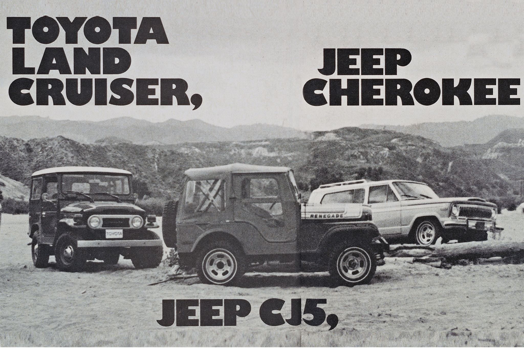 Jeep Cherokee Vs Toyota Land Cruiser Vs Jeep CJ5