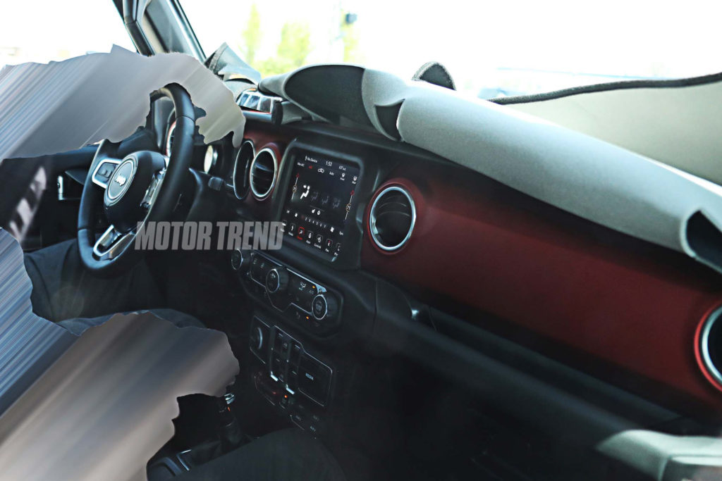 Spied Next Gen Jeep Wrangler Interior Dashboard 1024x683 1
