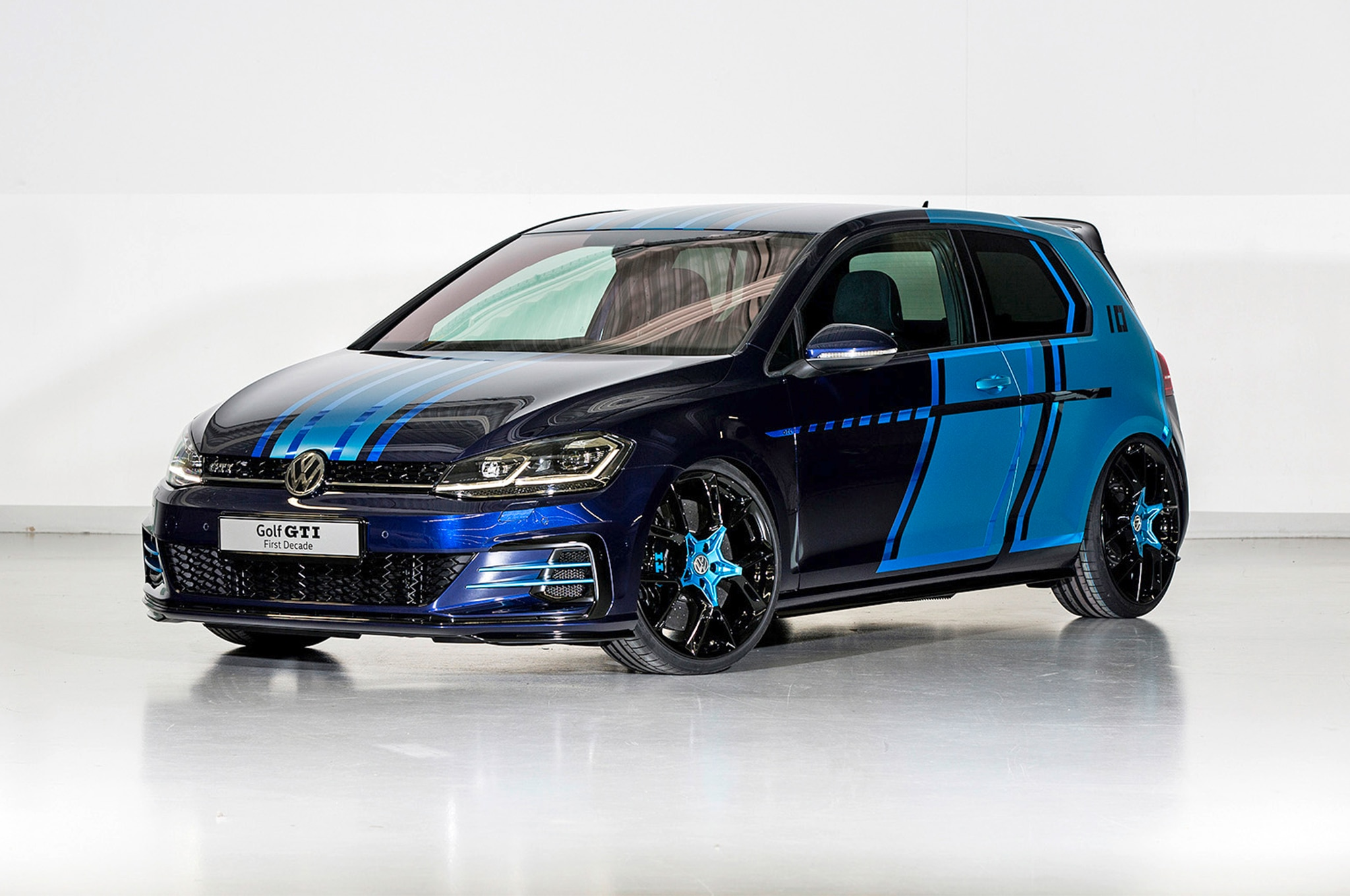 Volkswagen GTI First Decade Hybrid Concept Front Three Quarter In Motion