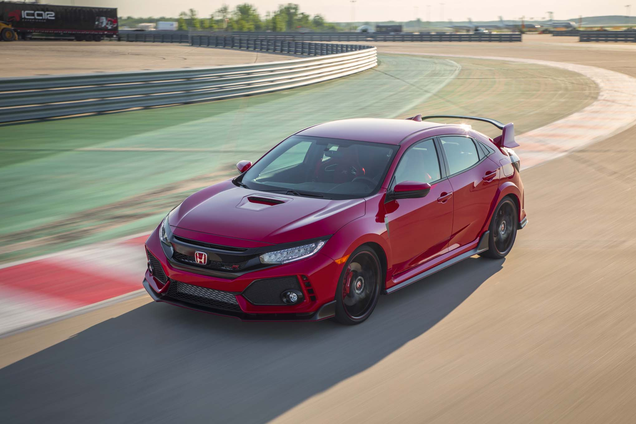 2017 Honda Civic Type R Front Three Quarter In Motion 12 1