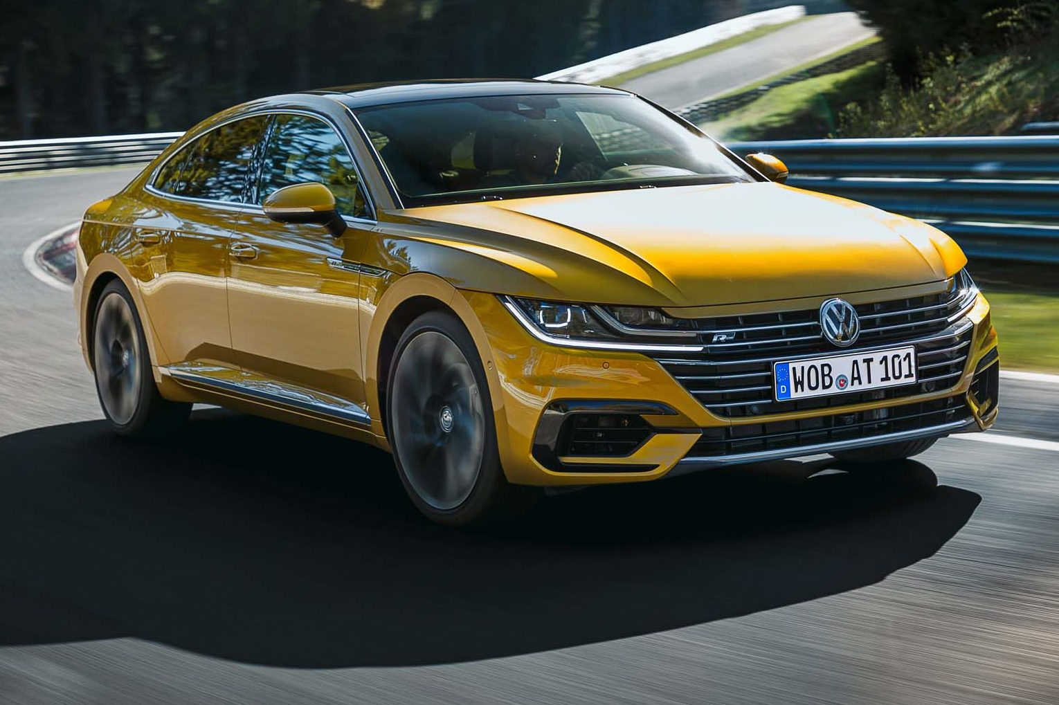 2019 Volkswagen Arteon R Line Front Three Quarters Turn 03 E1497282283872