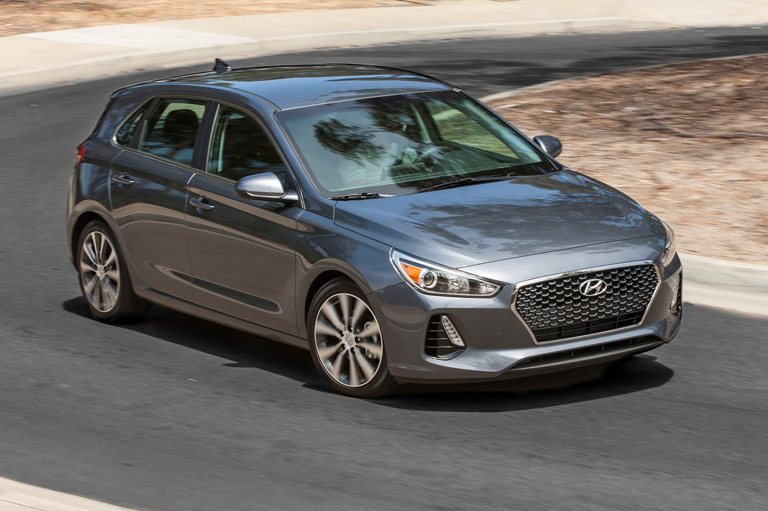 2018 Hyundai Elantra GT Front Three Quarter In Motion 05 E1501092039382