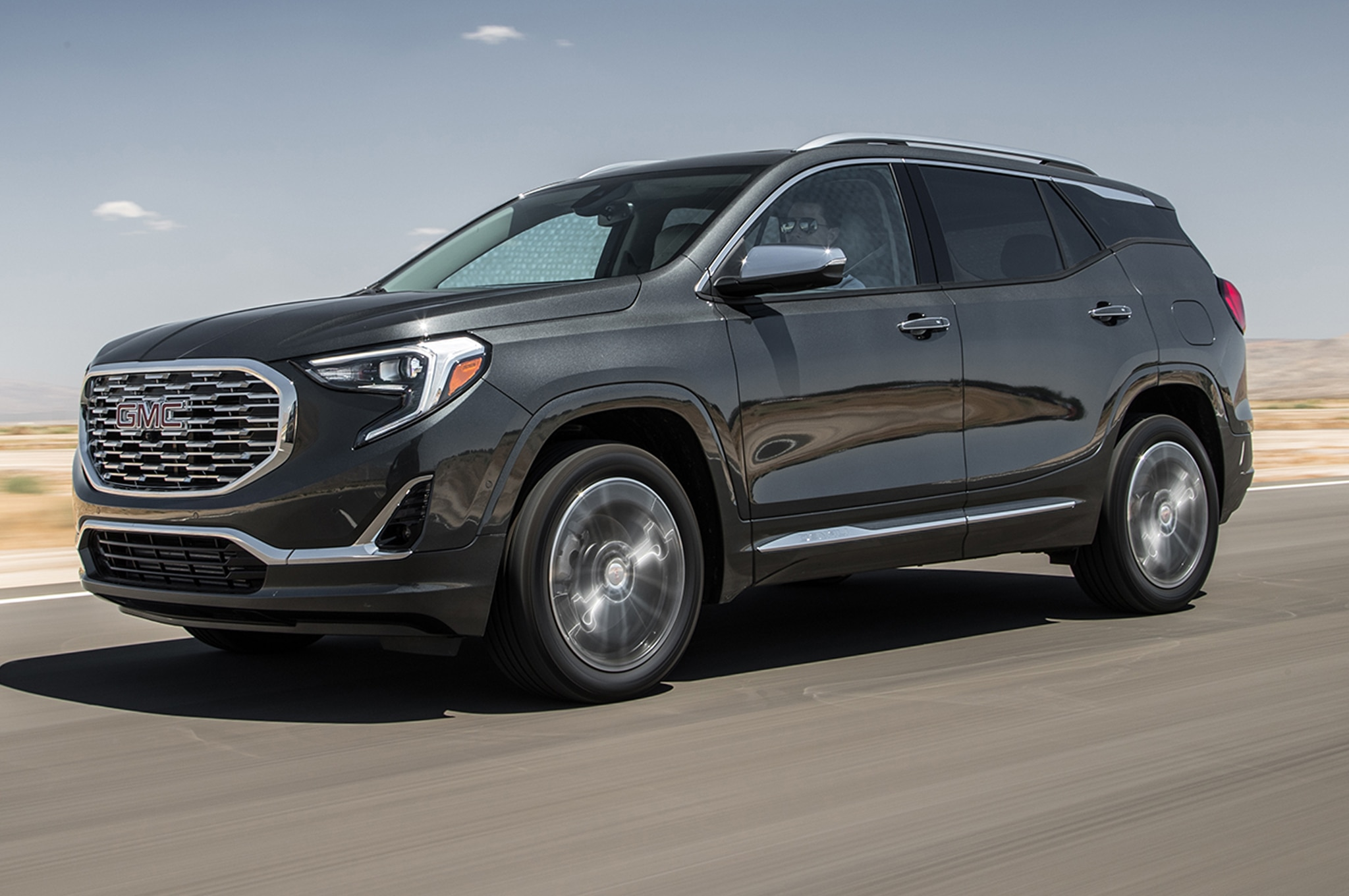 2018 GMC Terrain Front Three Quarter In Motion 01 1