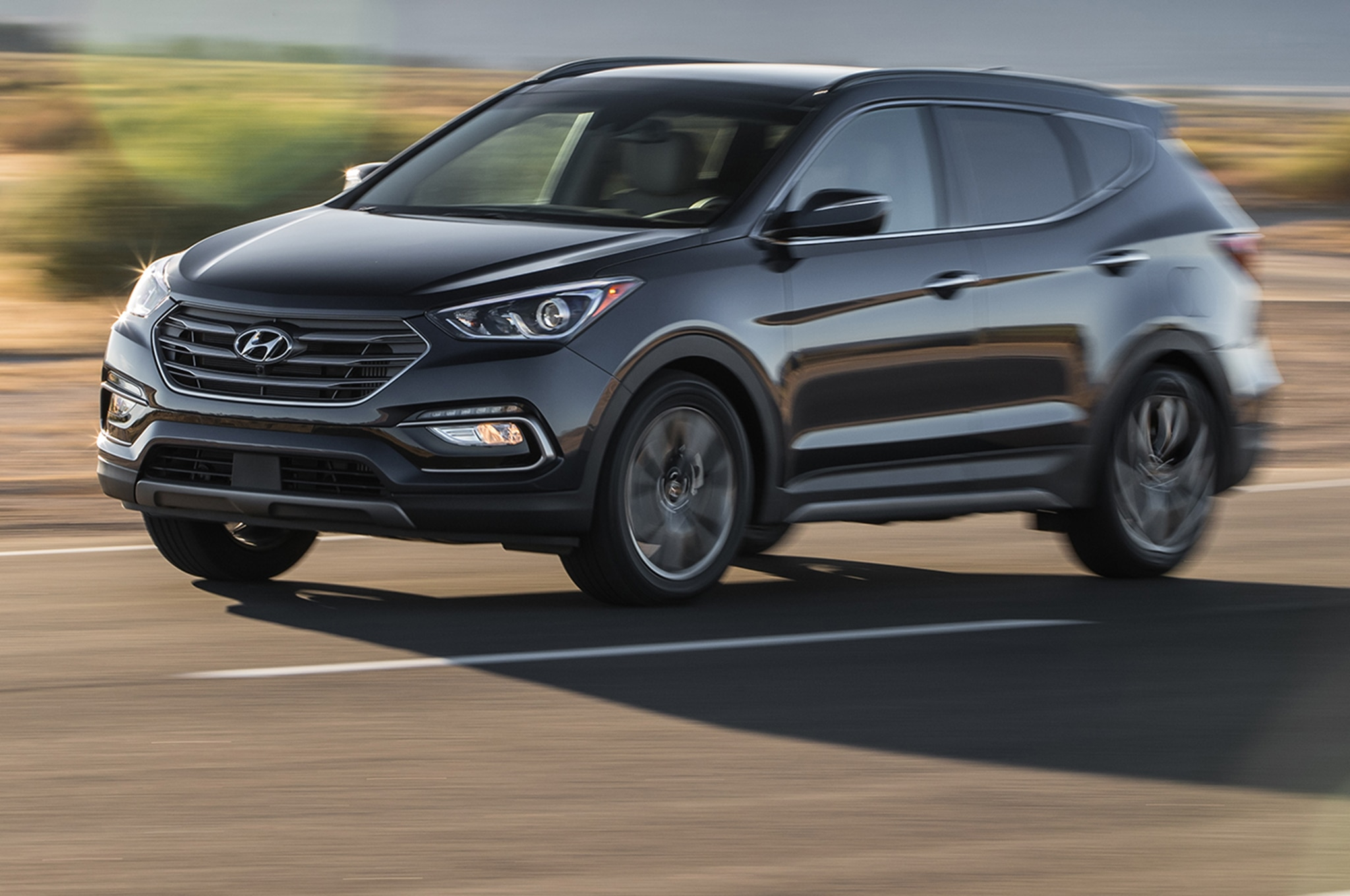 2018 Hyundai Santa Fe Sport Front Three Quarter In Motion 02 1