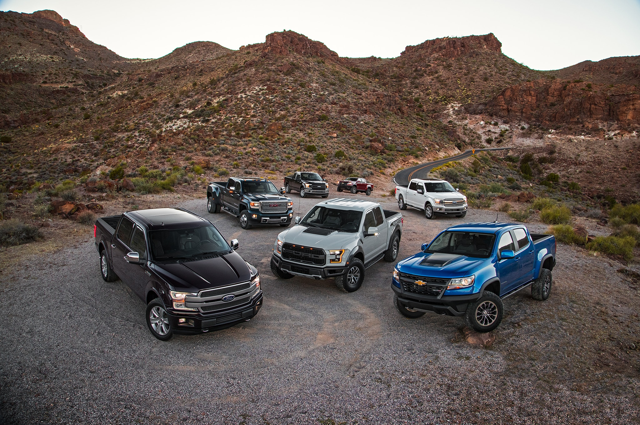 2018 Motor Trend Truck Of The Year Group Shot