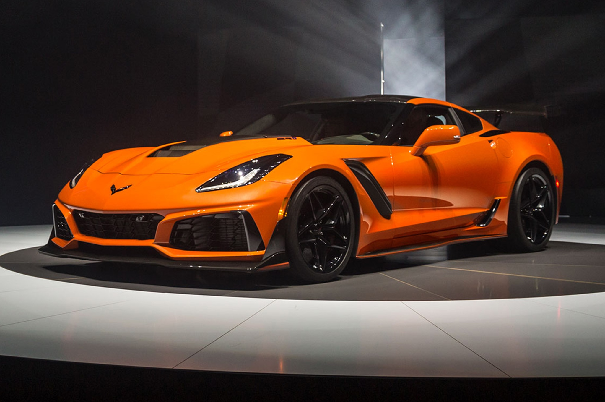 2019 Chevrolet Corvette ZR1 Front Side View On Stage