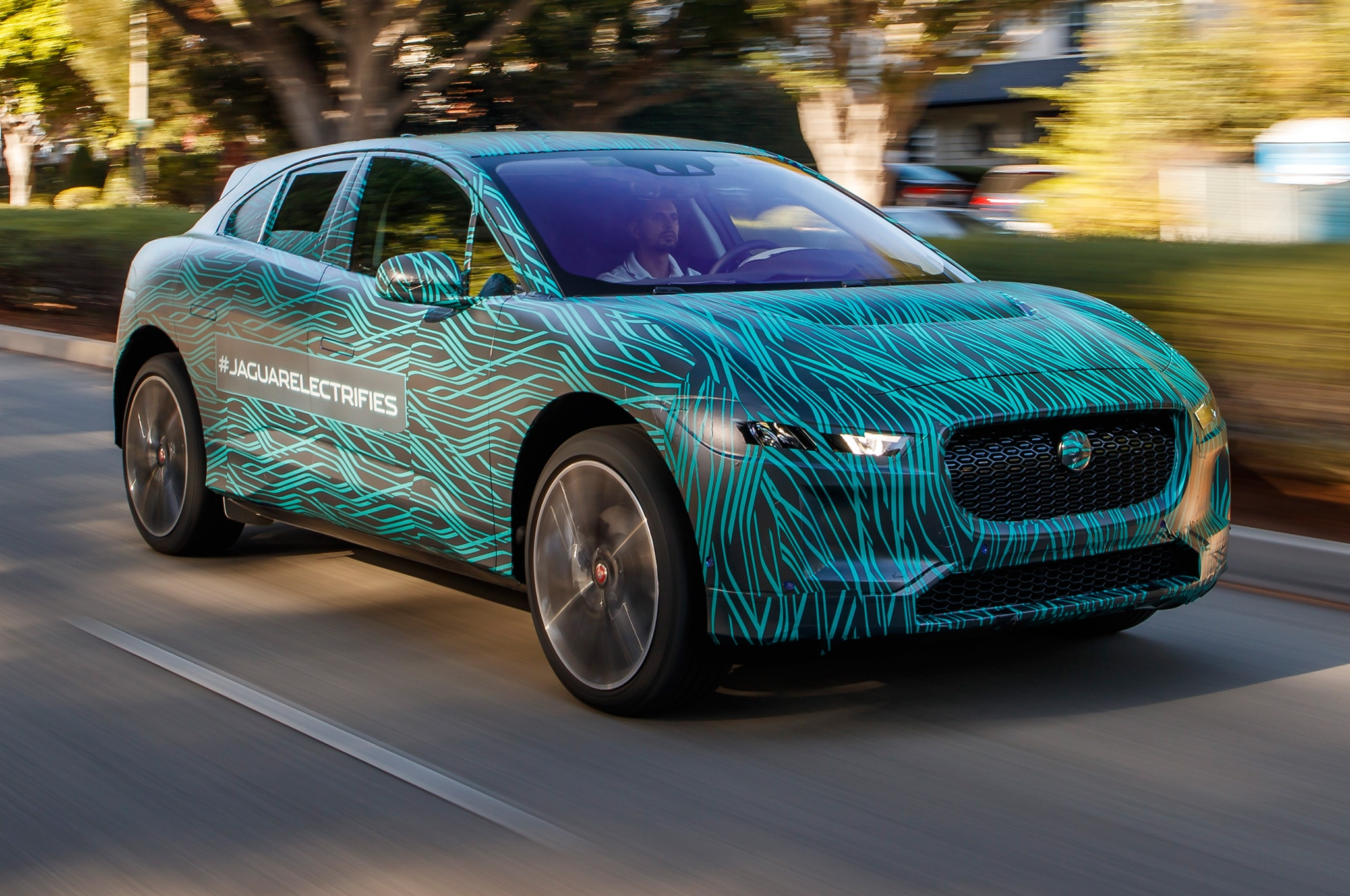 2019 Jaguar I Pace Prototype In Motion