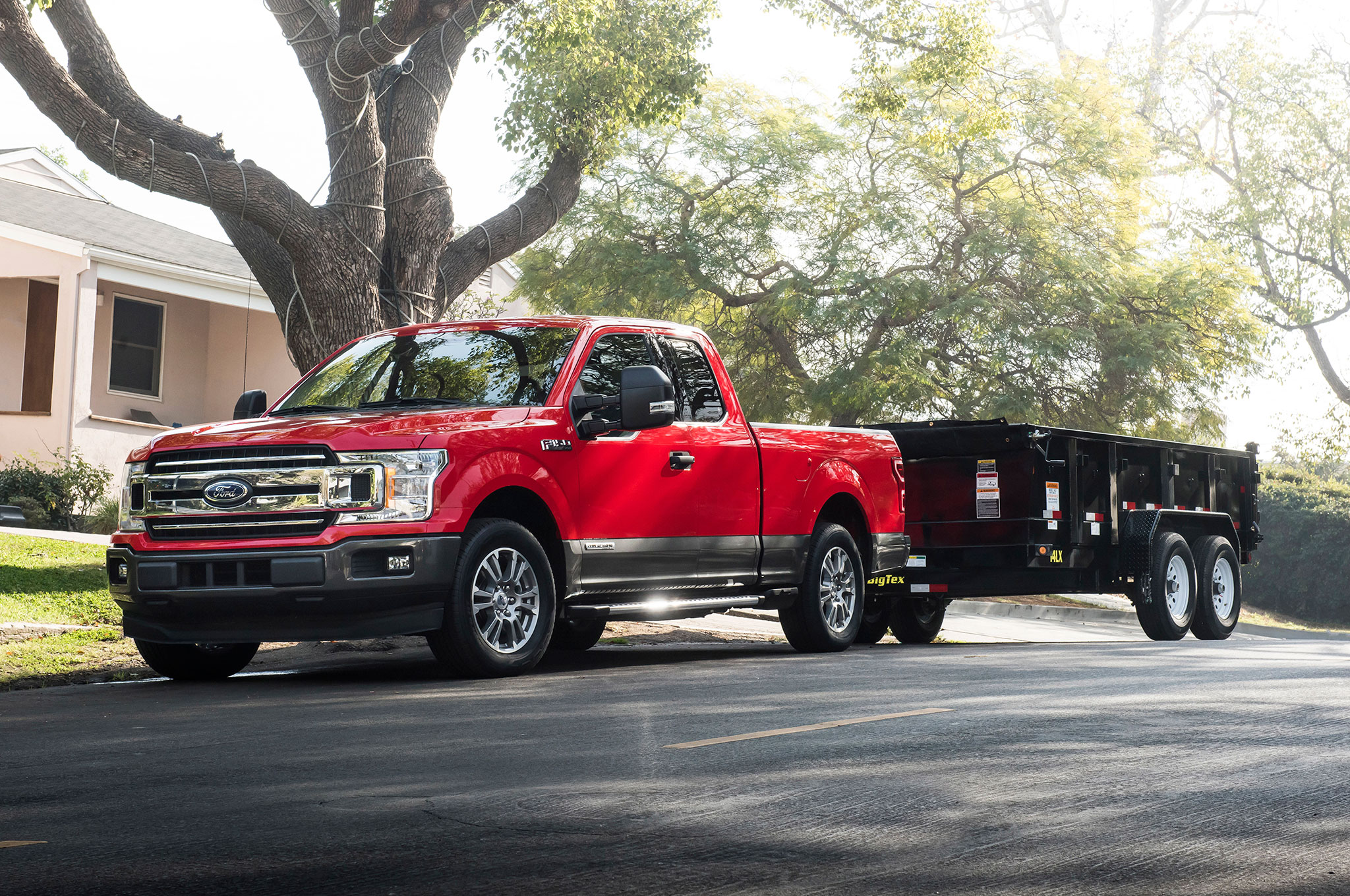 2018 Ford F 150 Diesel Parked