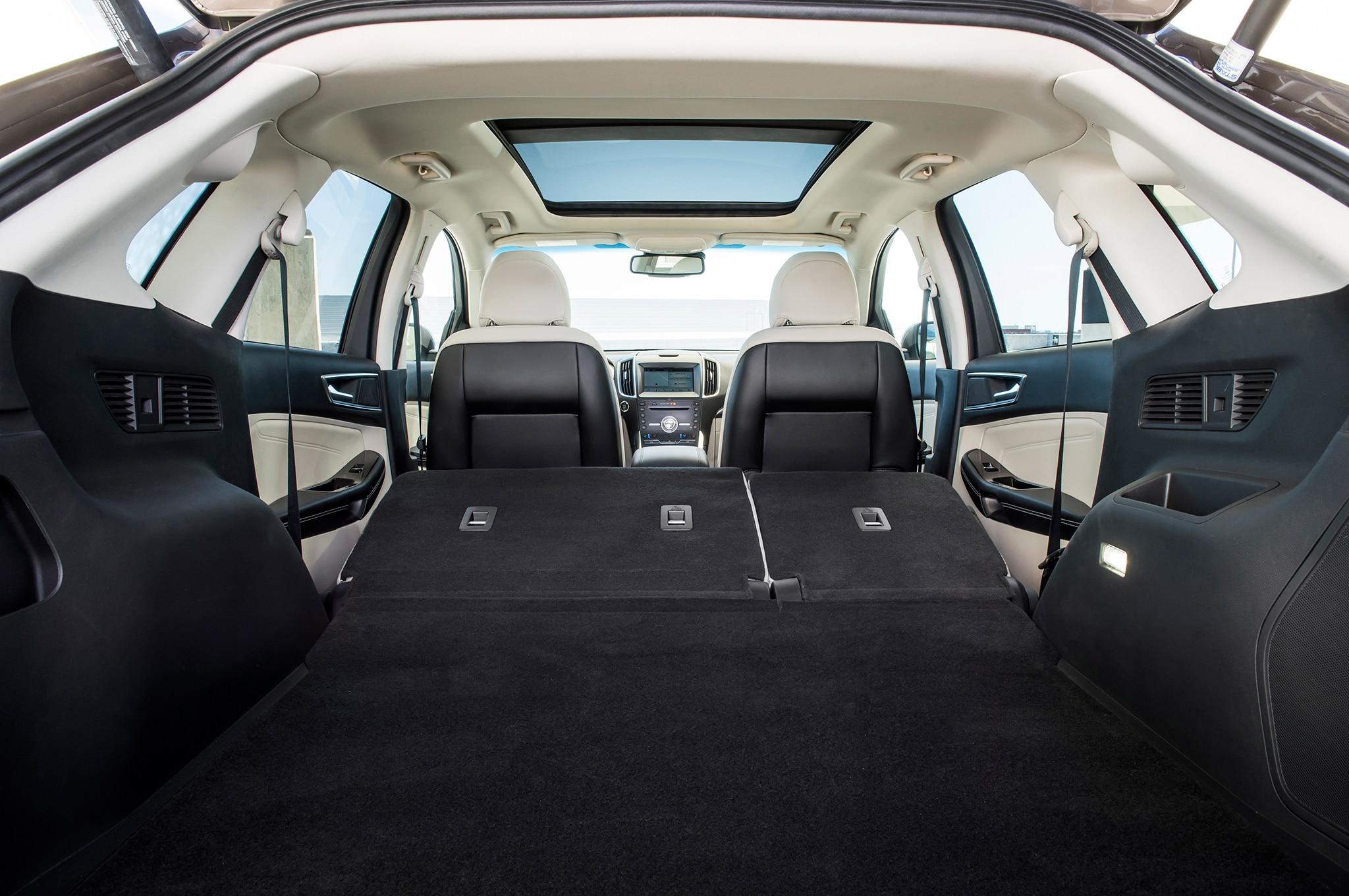 2019 Ford Edge Titanium Elite rear interior seats folded ...