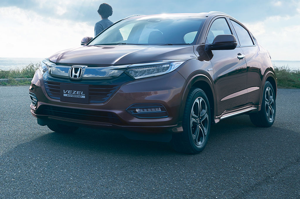 2019 Honda Vezel Hybrid Japanese Spec Front Three Quarters 01