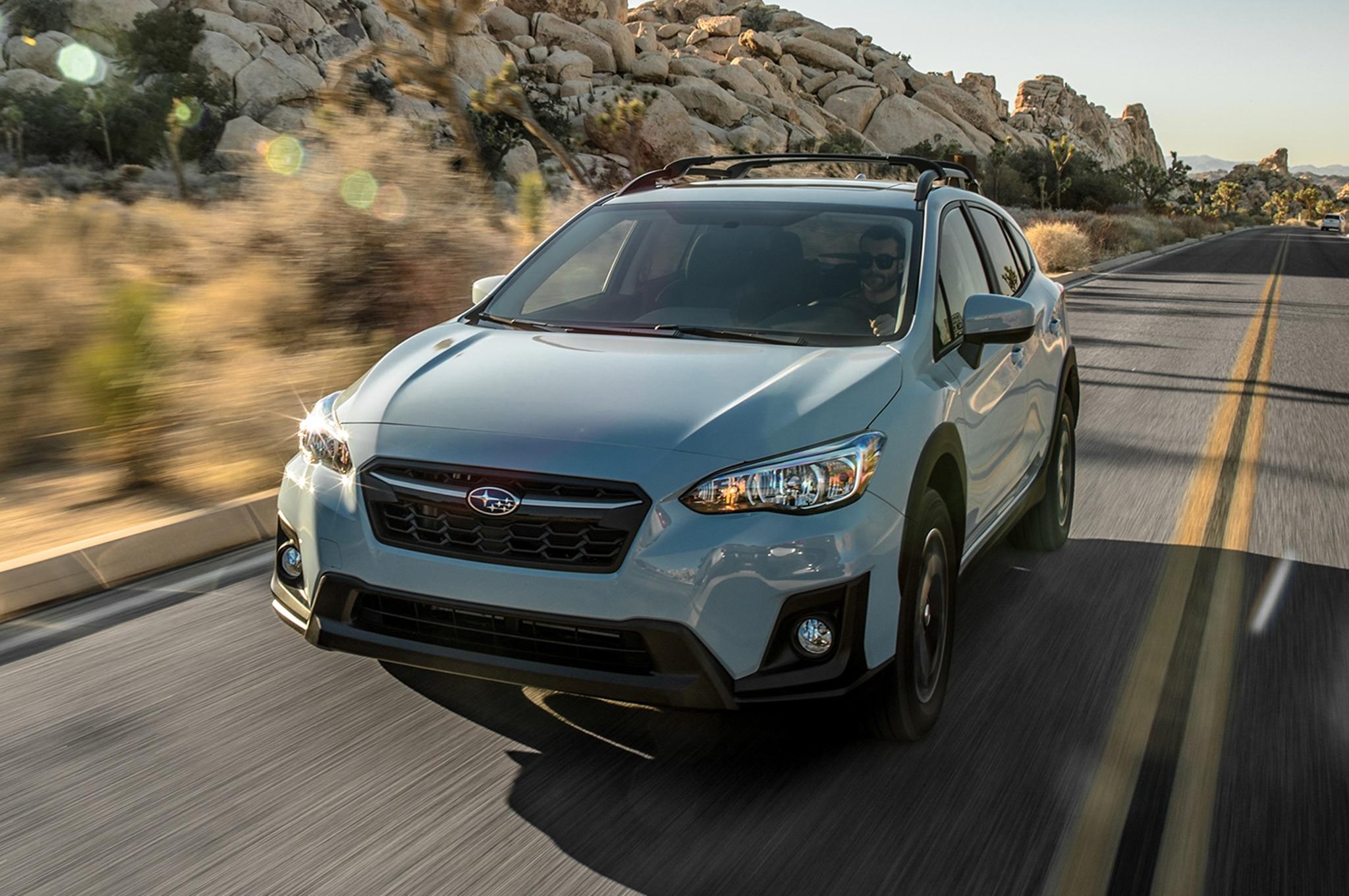 2018 Subaru Crosstrek 2 0i Premium Front Three Quarter In Motion 11