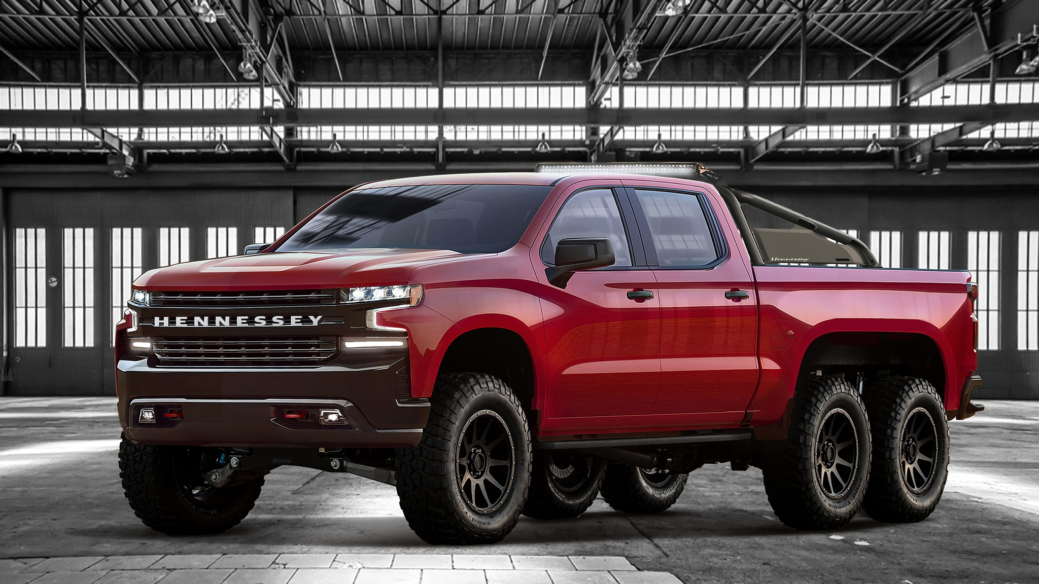 Hennessey Goliath 6X6 1 Red Front