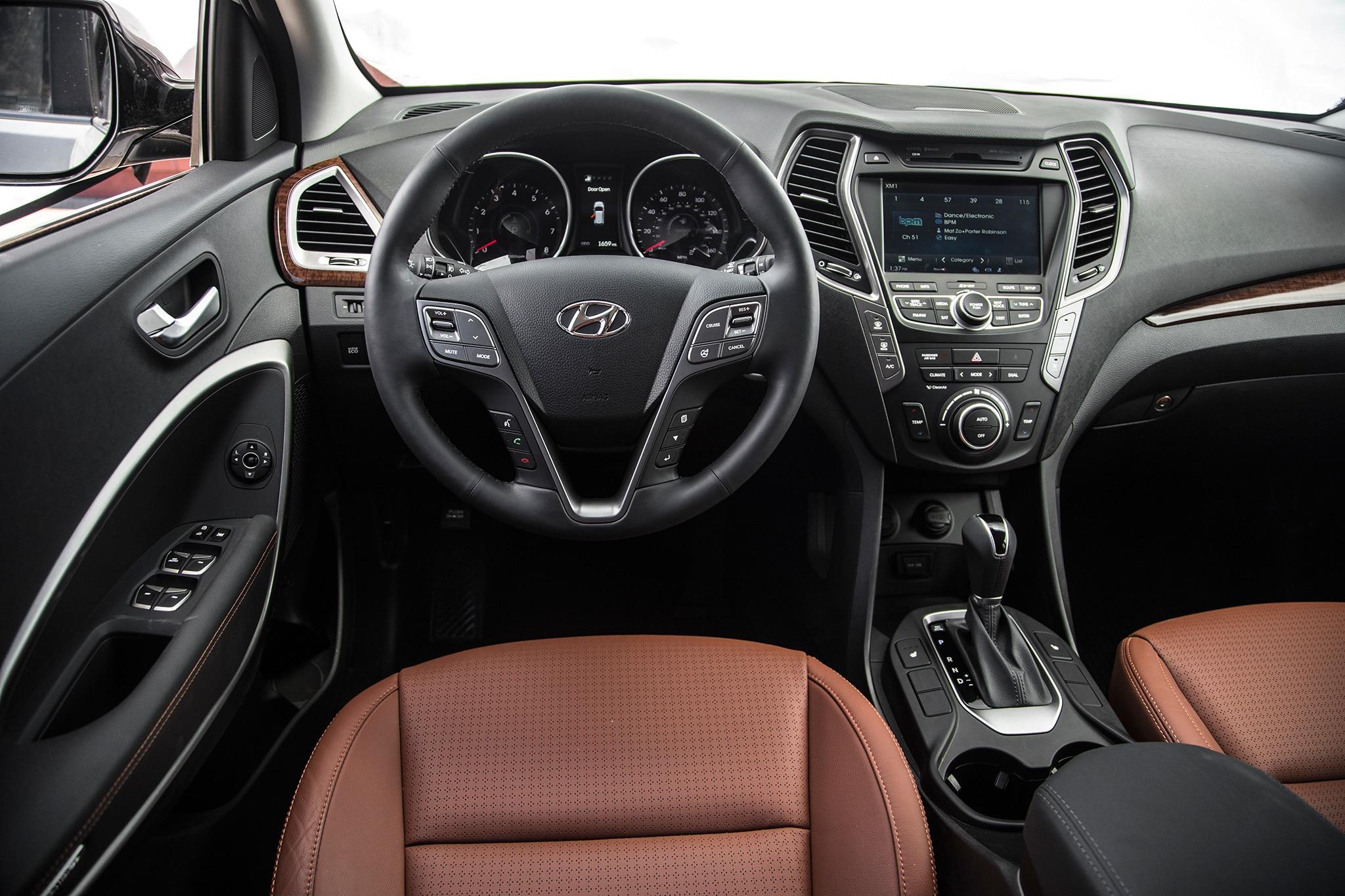 Hyundai santa fe 2016 interior
