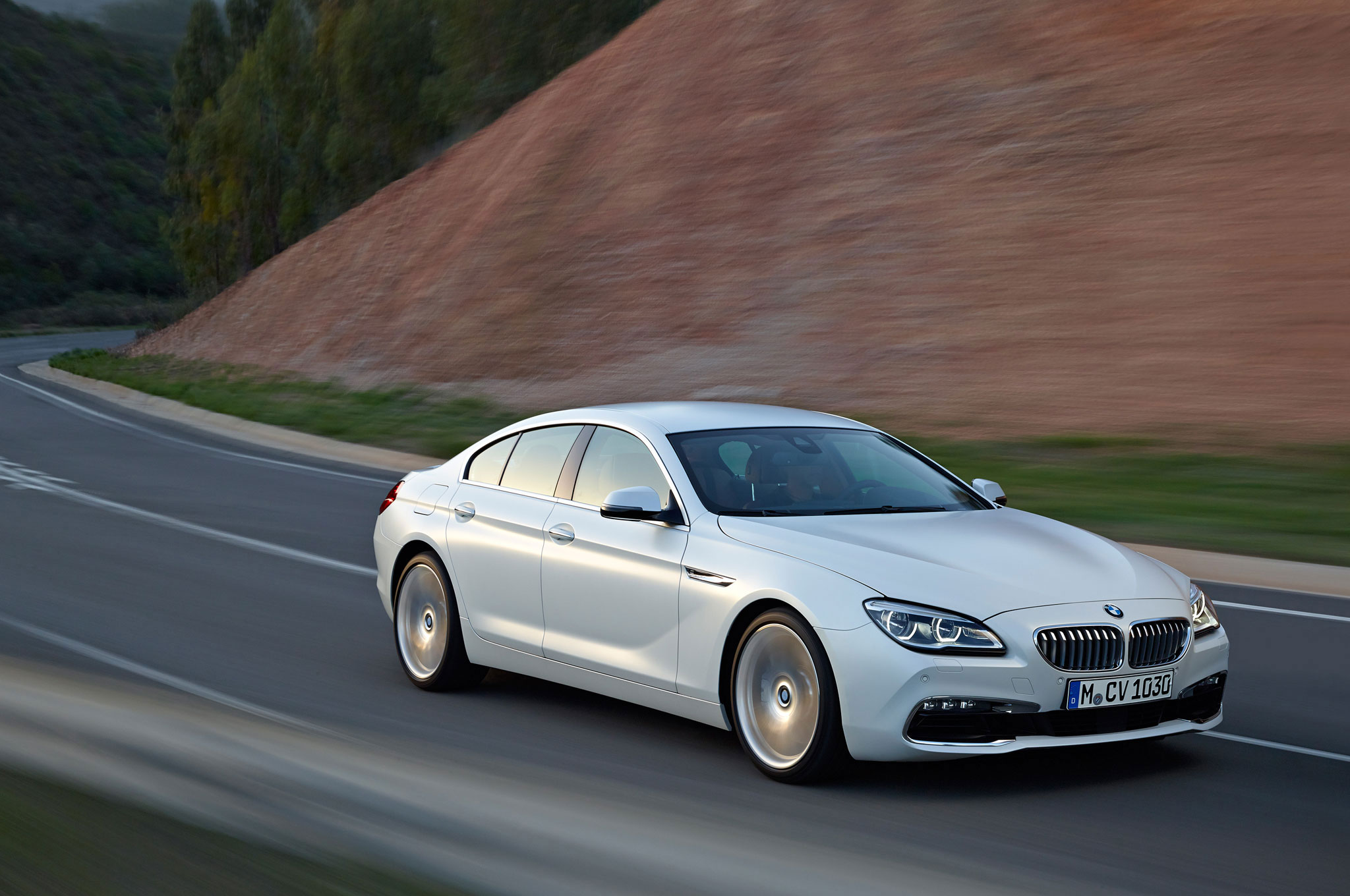 2016 Bmw 6 Series Gran Coupe Front Three Quarter In Motion 2