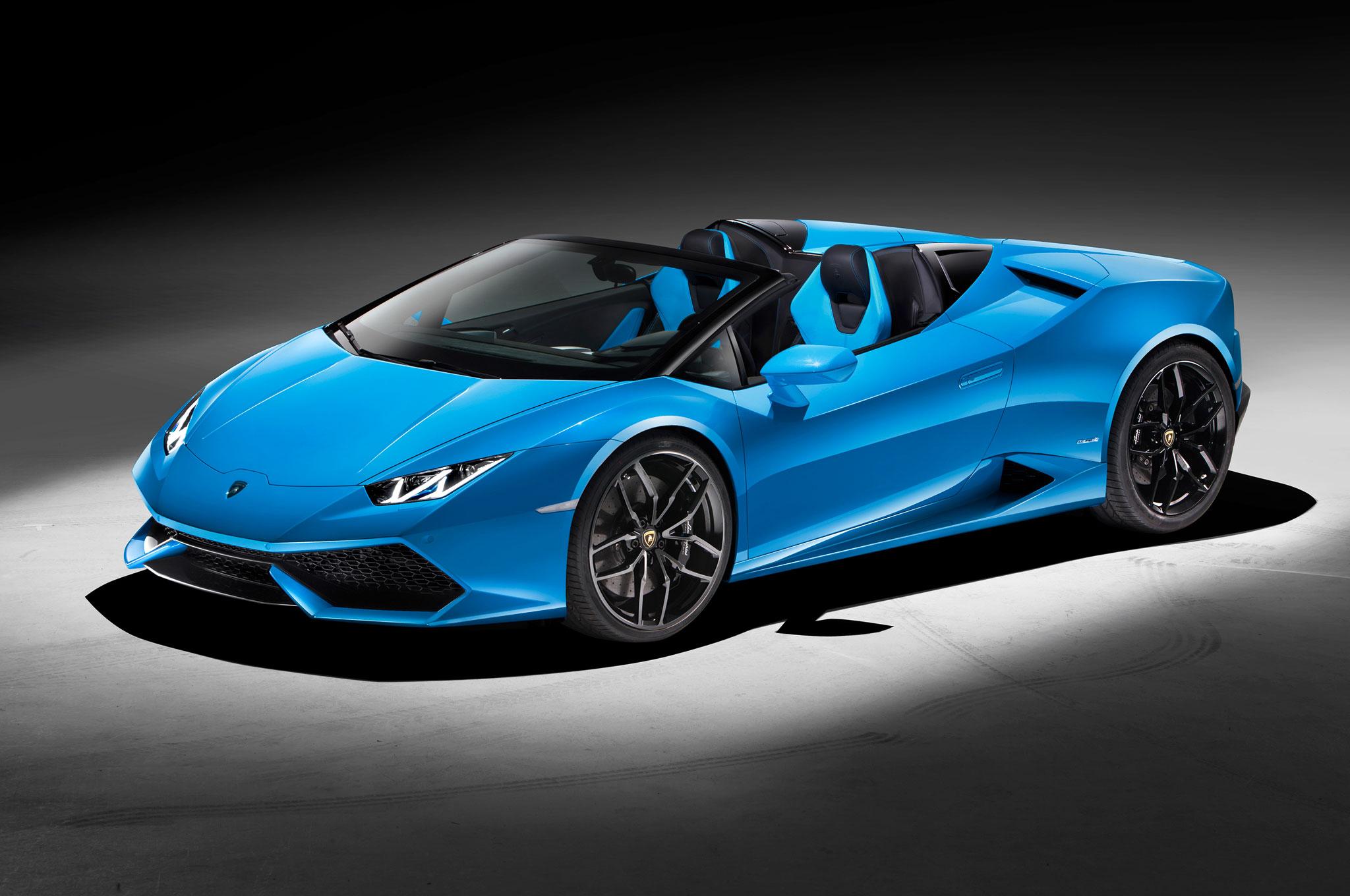 Lamborghini Huracan Spyder Front Side View
