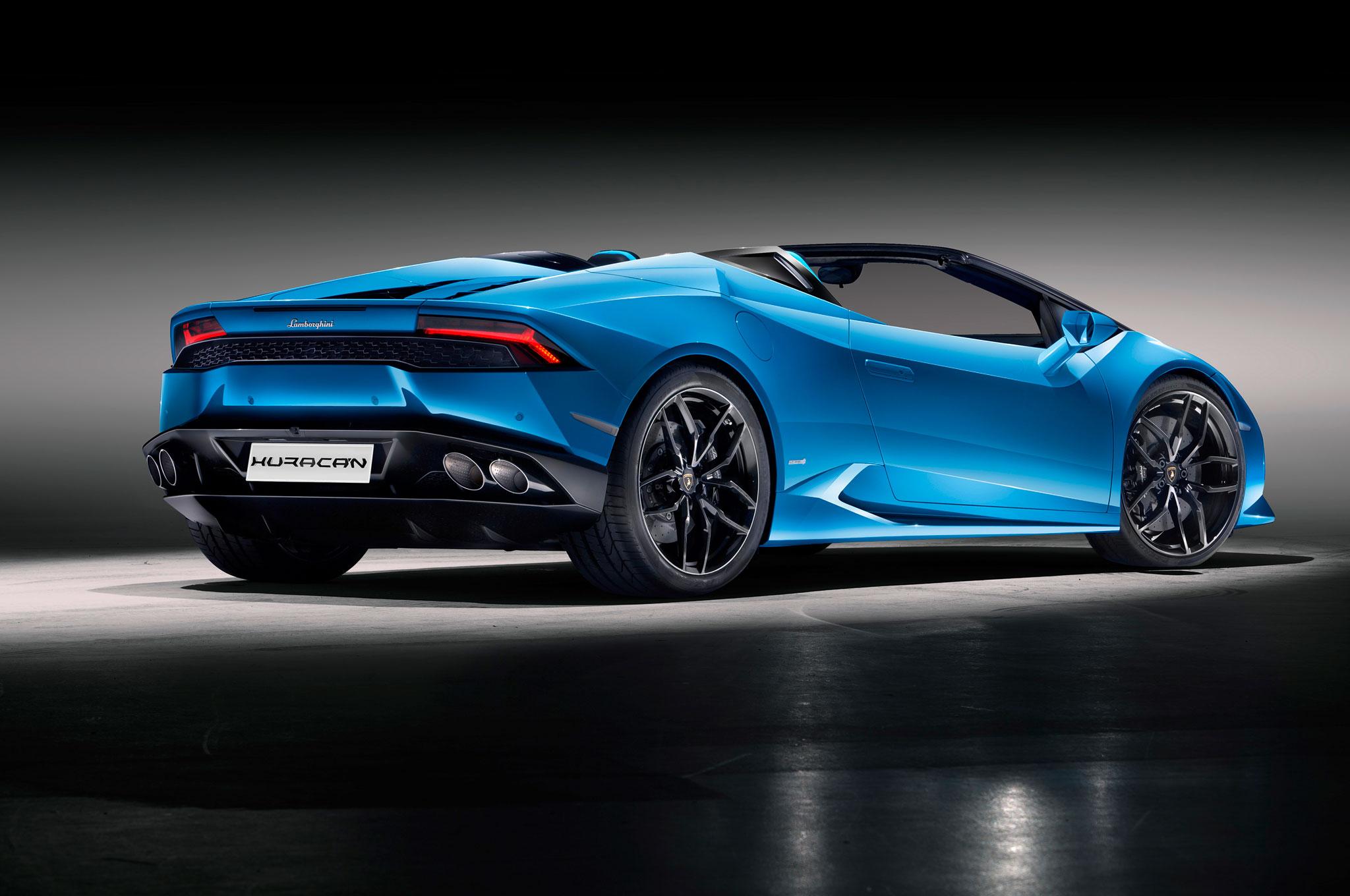 Lamborghini Huracan Spyder Rear Side View Motor Trend En Espanol