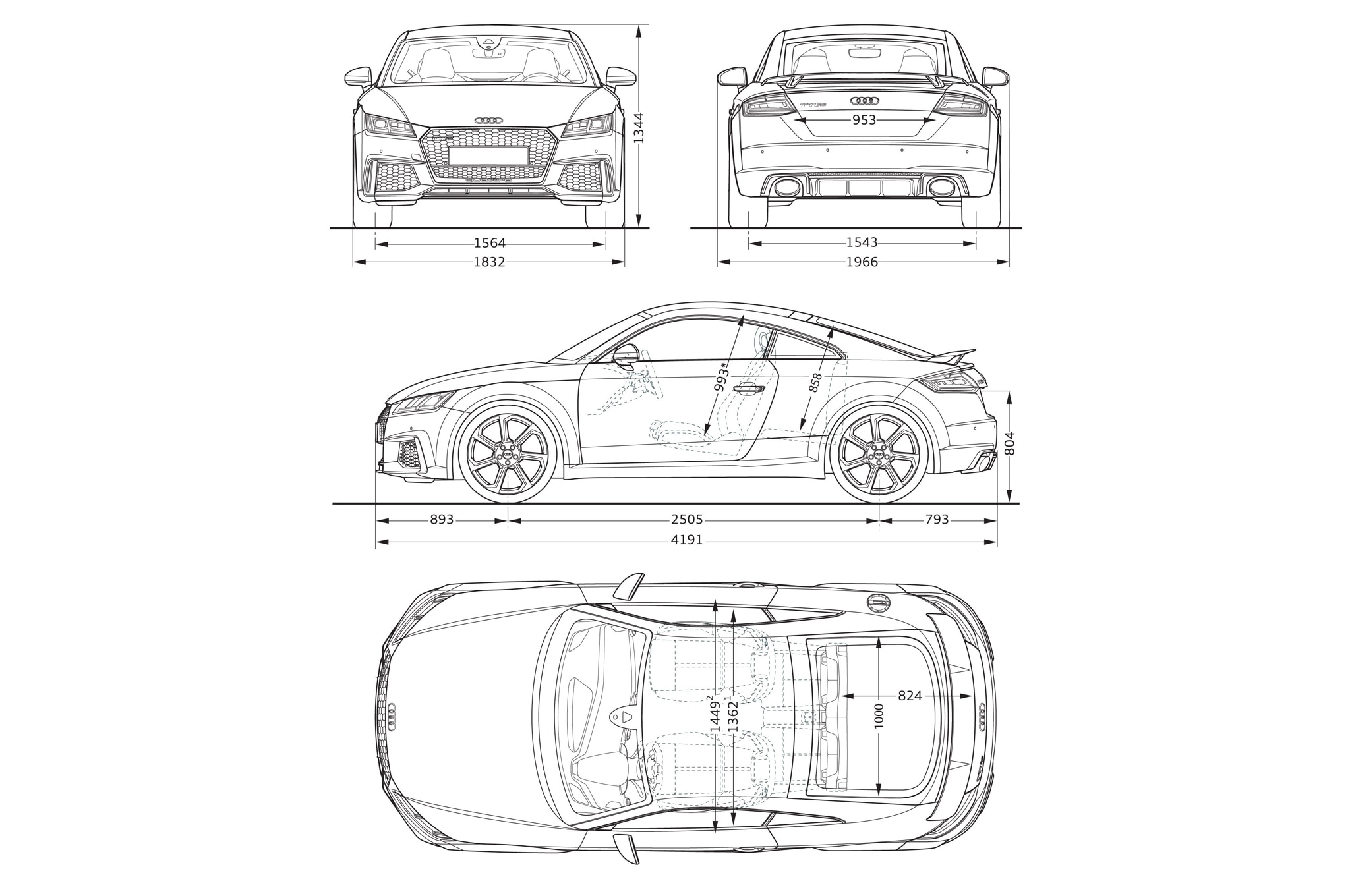 Audi-TT-RS-coupe-dimensions - Motor Trend en Español