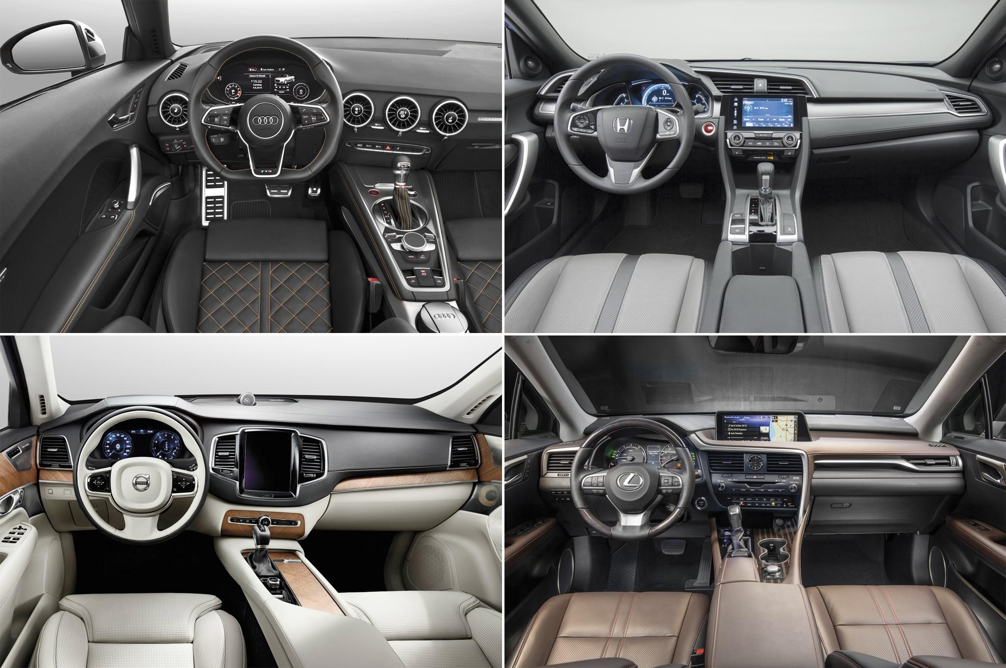 Audi TTS Volvo XC90 Lexus RX Honda Civic Interior