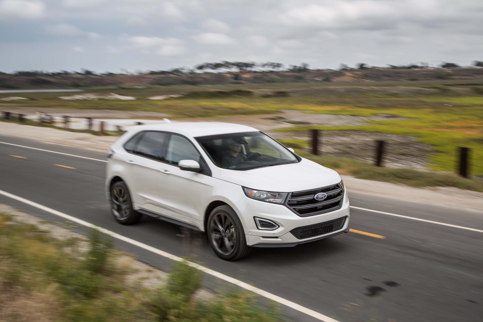 2016 Ford Edge Sport Awd Front Three Quarter In Motion