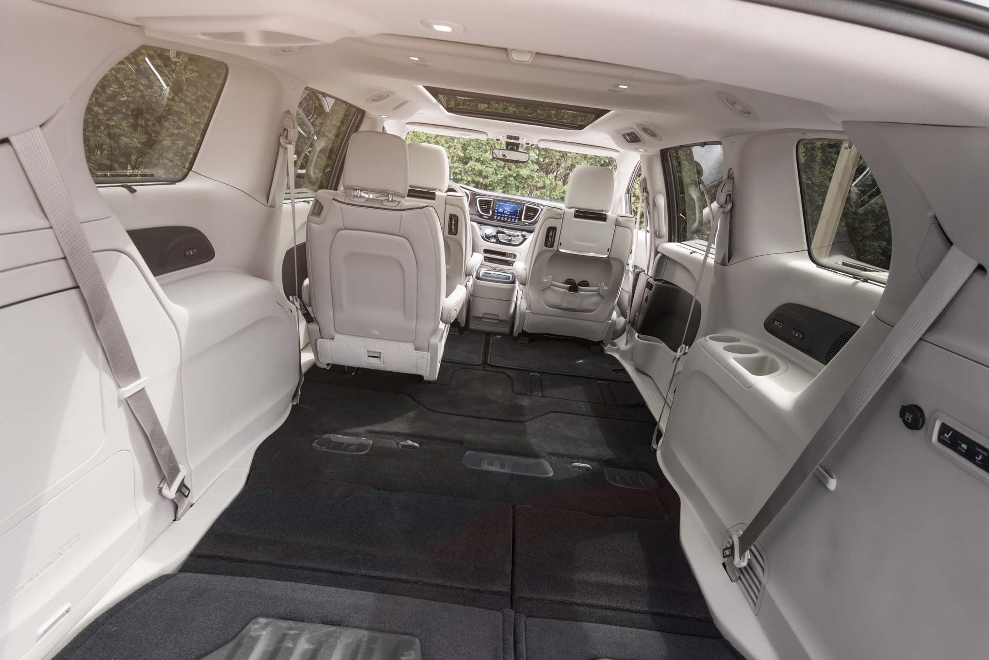 2017 Chrysler Pacifica Rear Interior Seats Folded Down