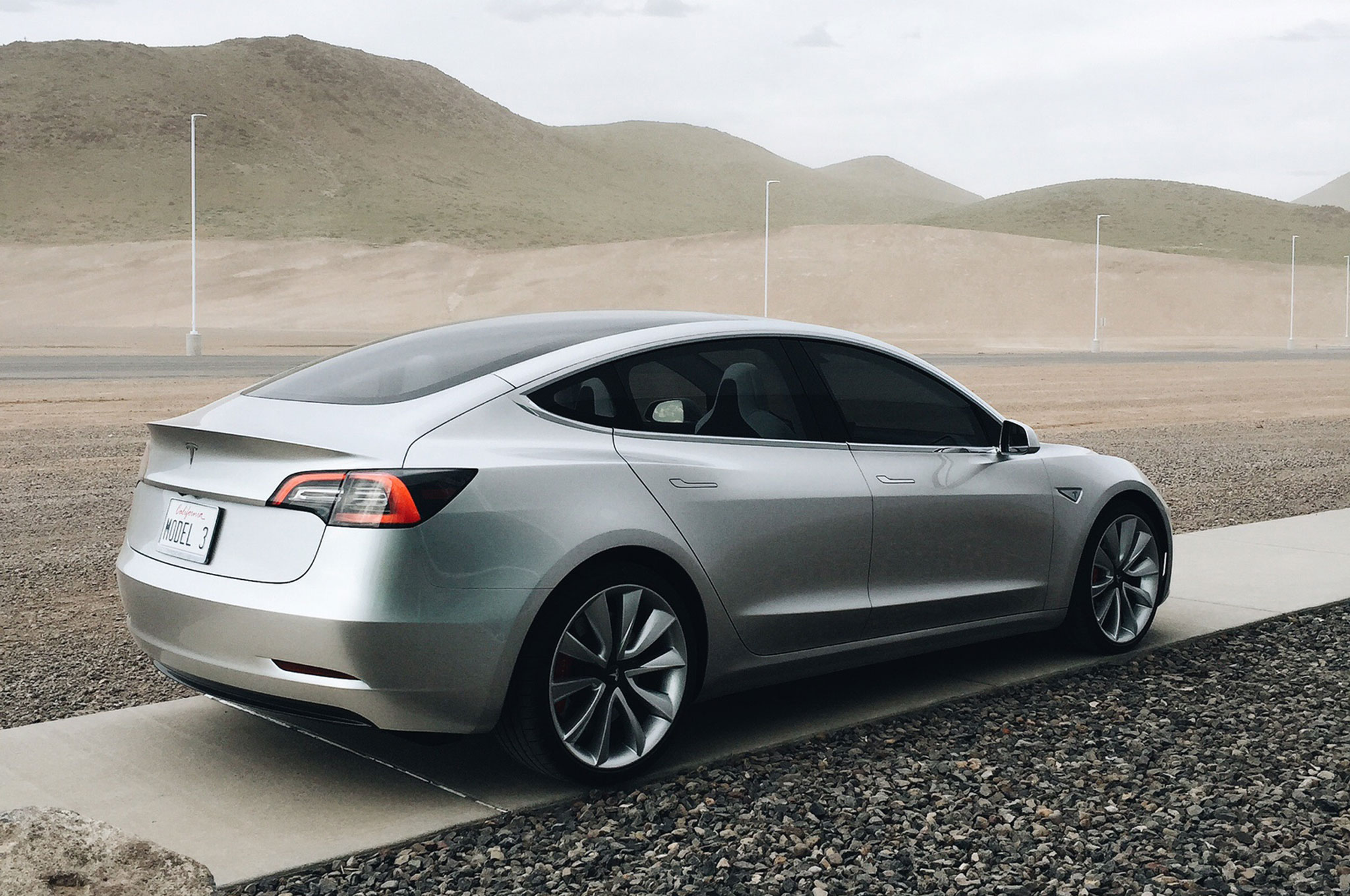 Tesla Model 3 Rear Side View