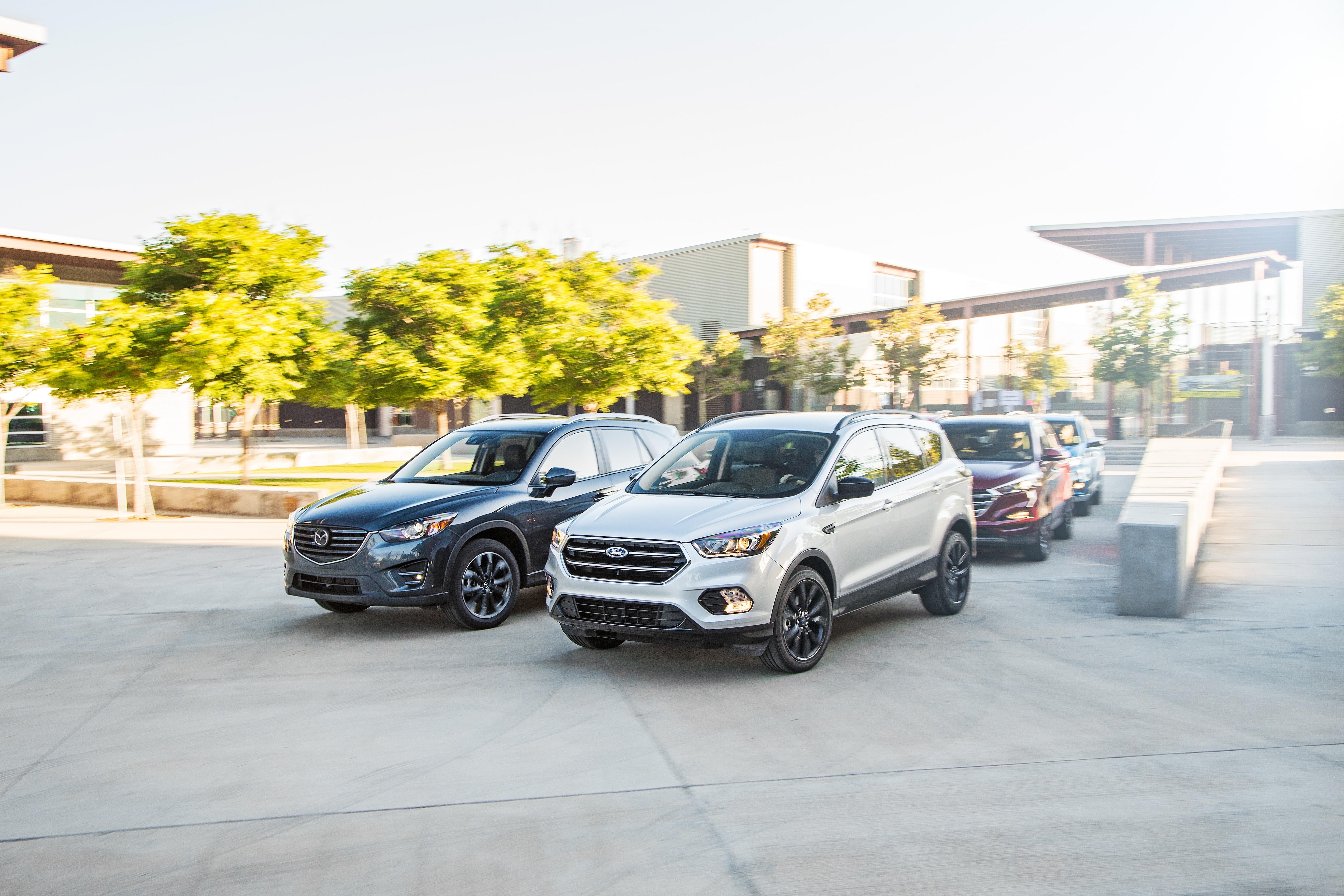 2016 2017 Crossover SUVs front three quarter