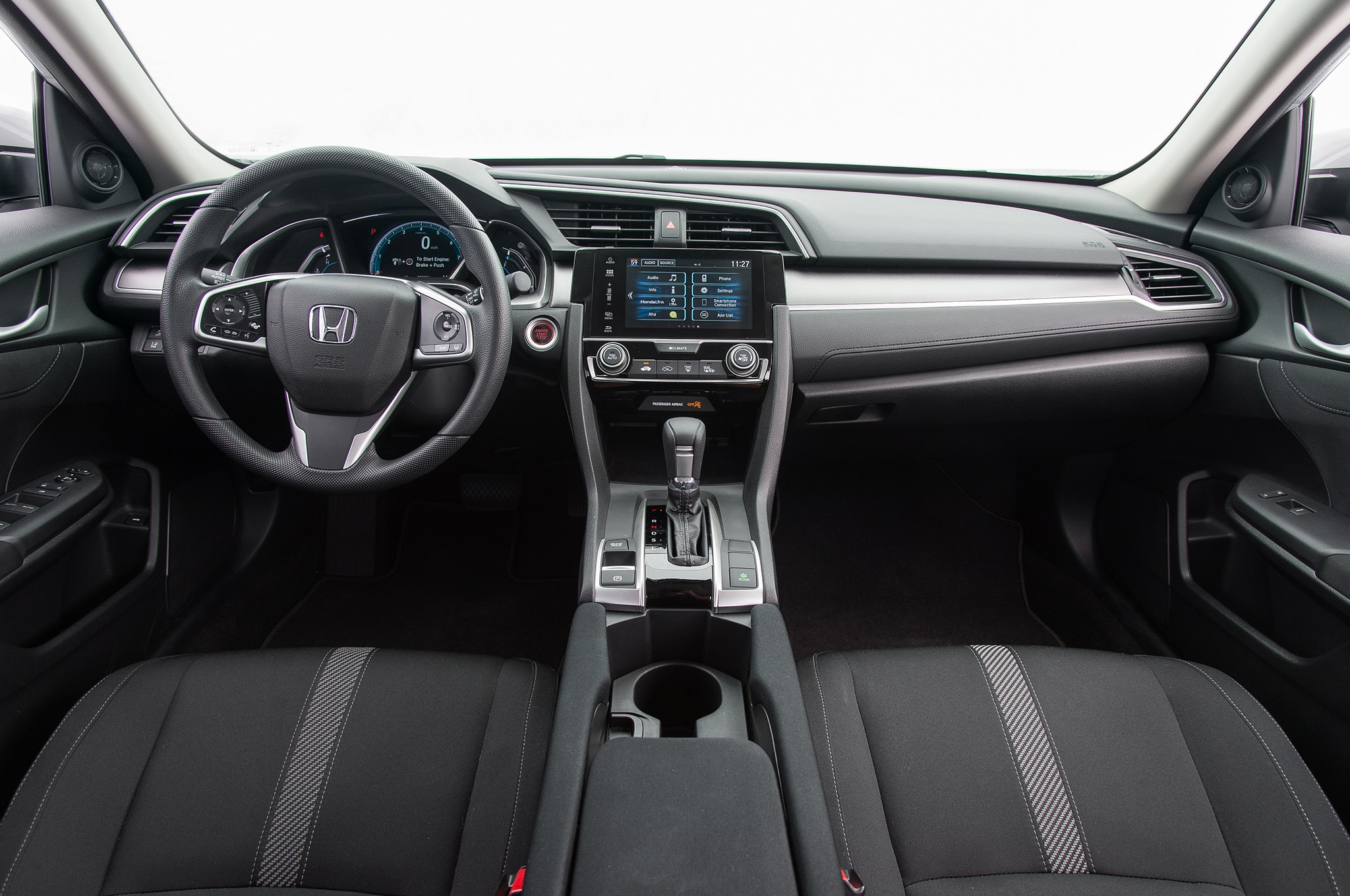 2016 honda civic ex interior motor trend en espa ol - 2016 honda civic si coupe interior ...