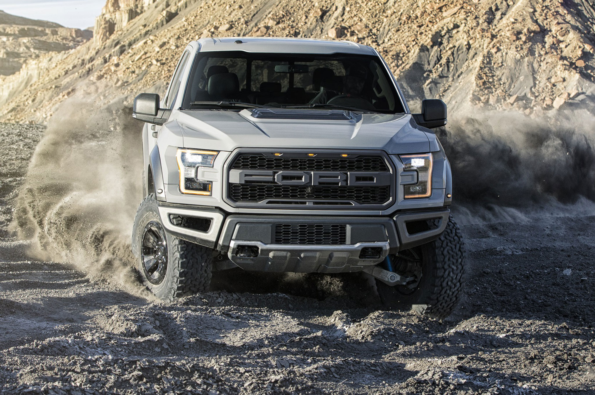2017 Ford F 150 Raptor Supercrew In Dirt Closer View