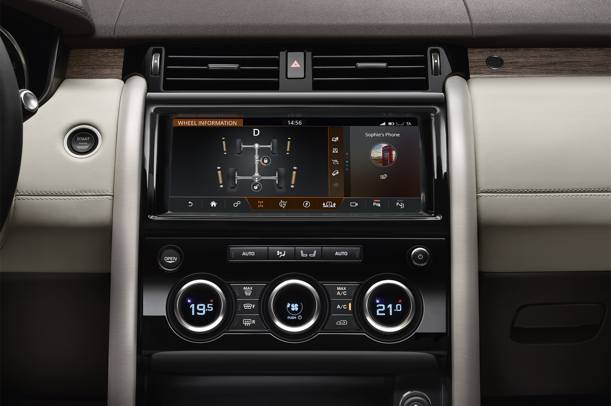 2017 Land Rover Discovery circulation controls
