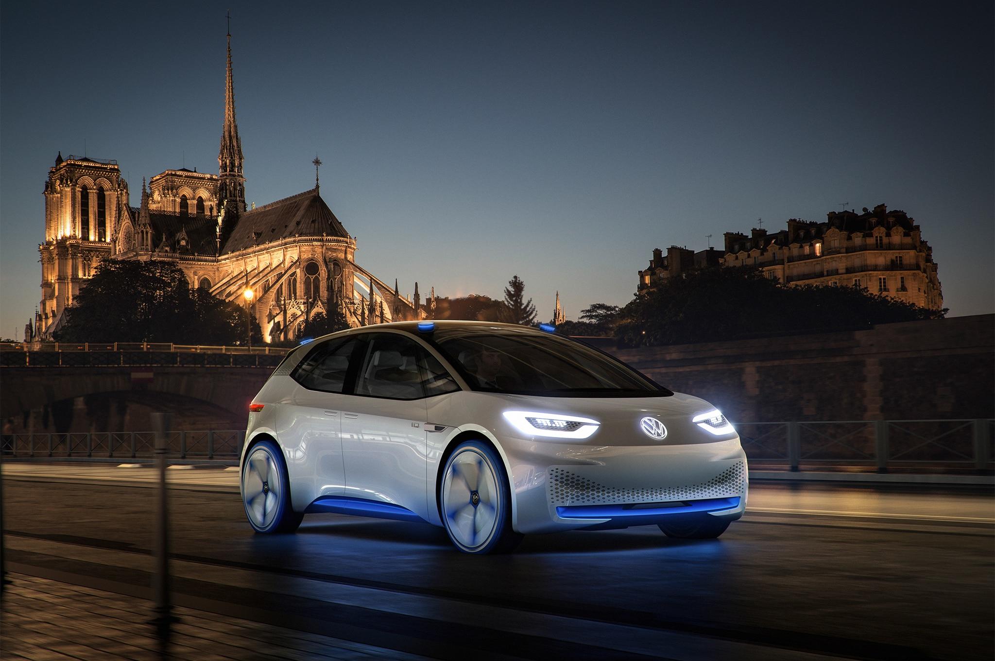 Volkswagen I D Concept front three quarter lights