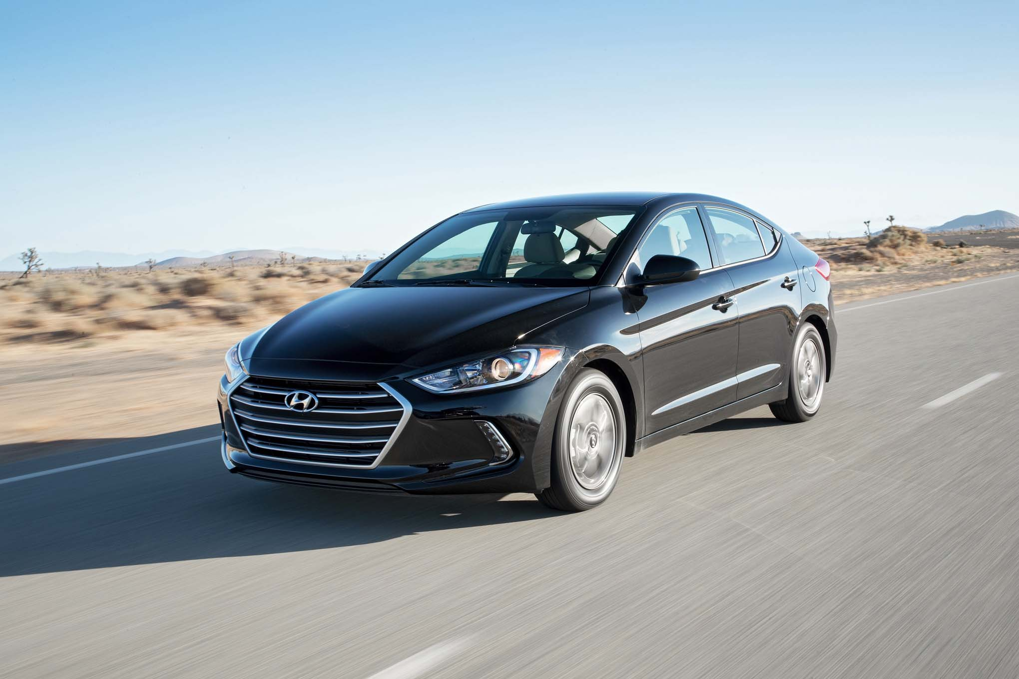 2017 Hyundai Elantra Eco front three quarter in motion