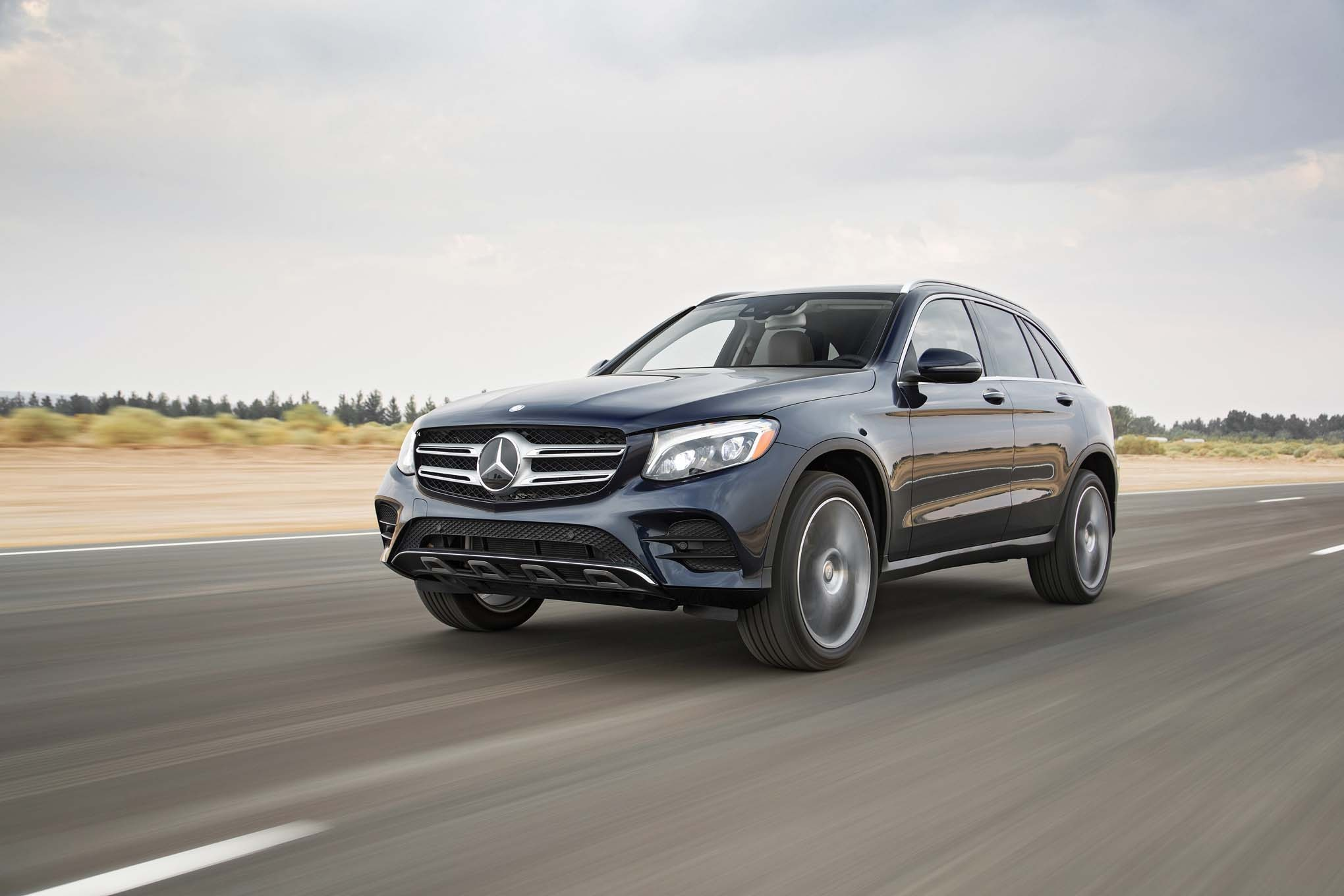 2016 Mercedes Benz GLC 300 4Matic Front Three Quarters In Motion