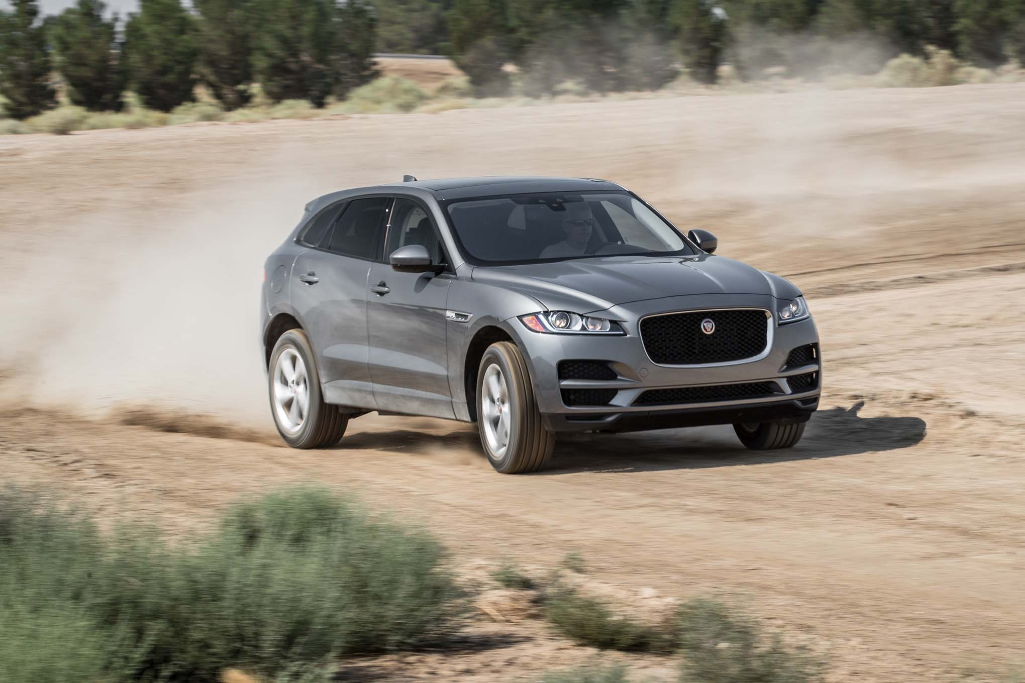 2017 Jaguar F Pace 35t AWD front three quarter in motion 02 1