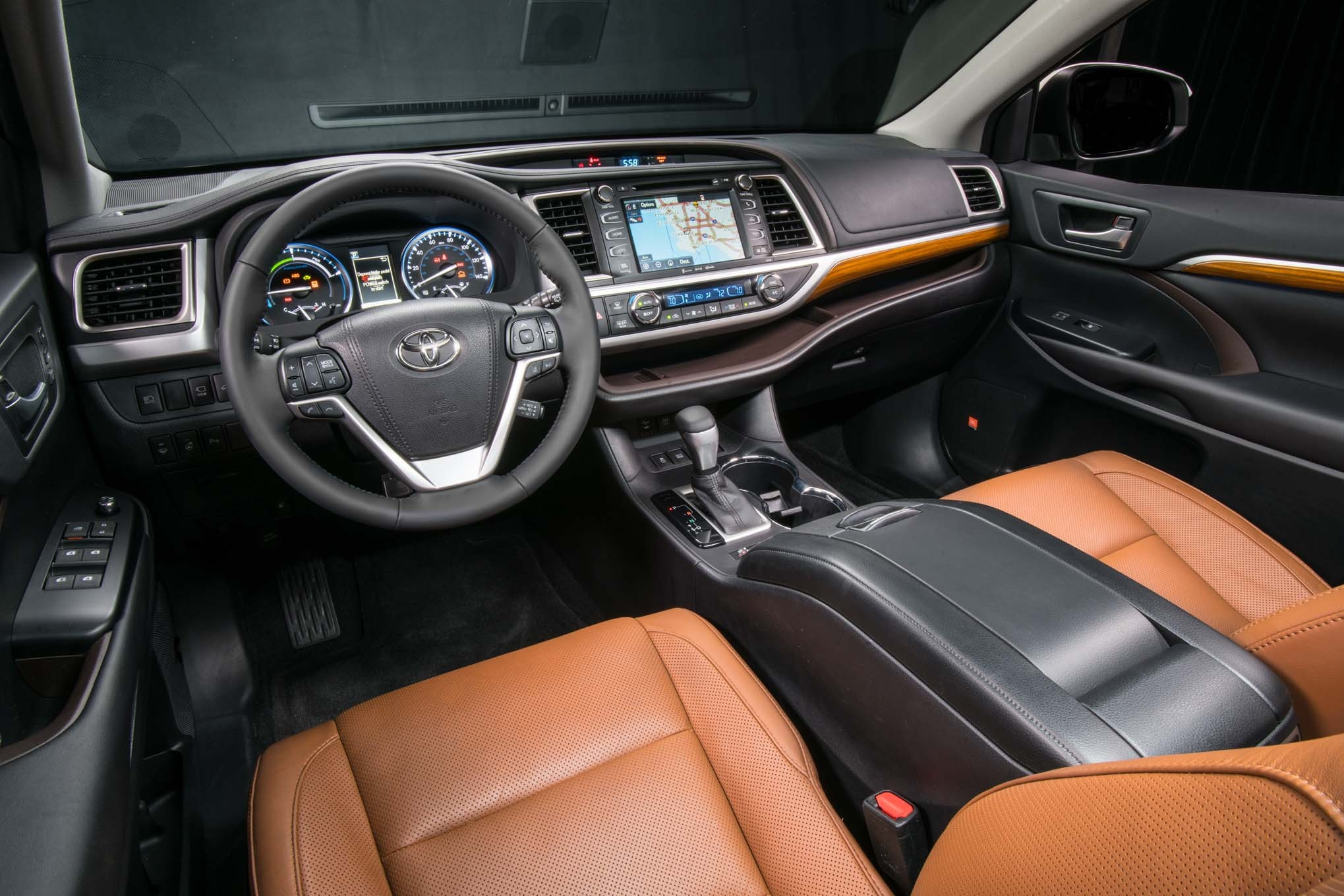 toyota highlander hybrid limited platinum interior   motor trend en espanol