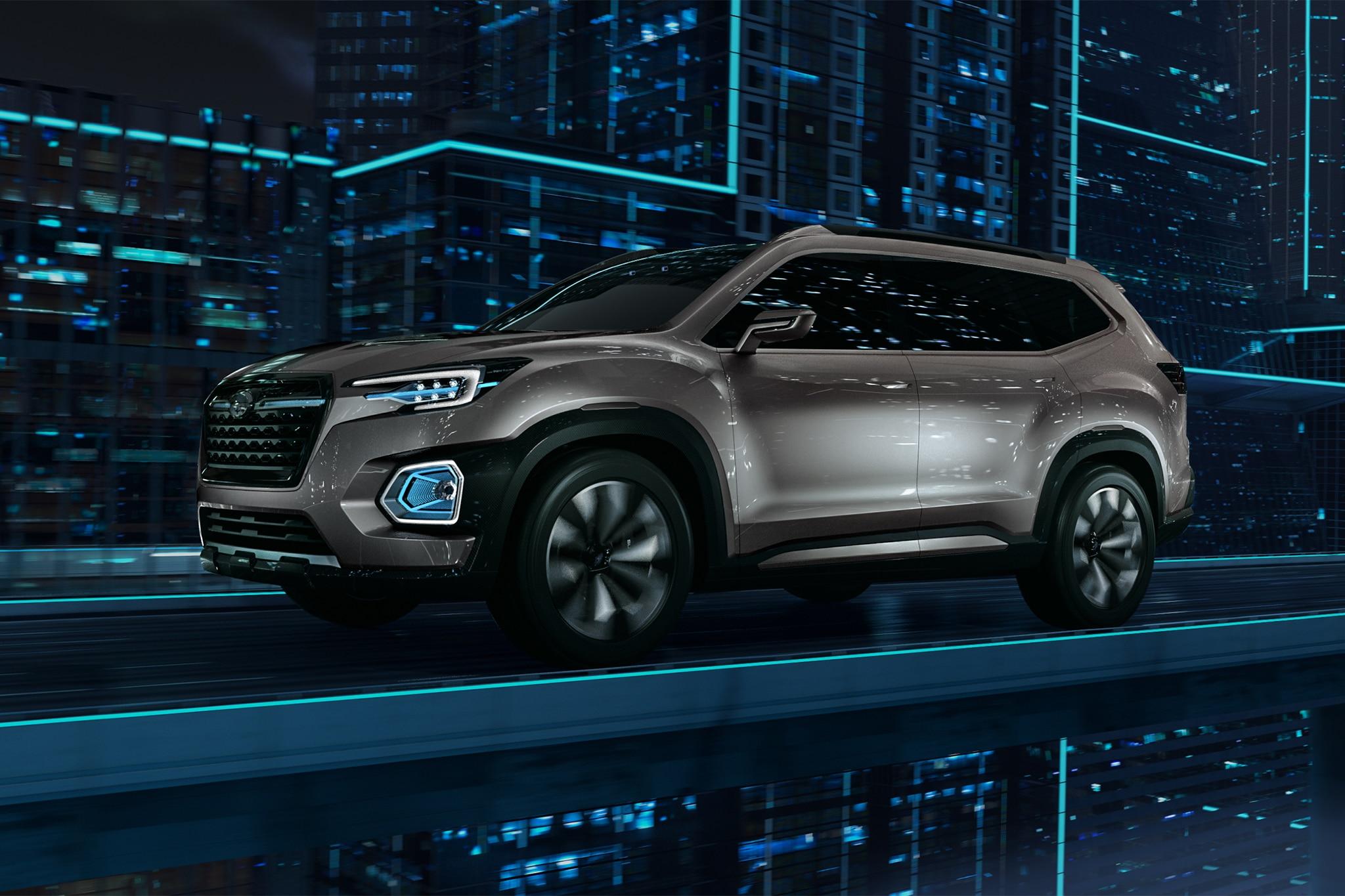 Subaru VIZIV 7 SUV Concept Front Three Quarter In Motion