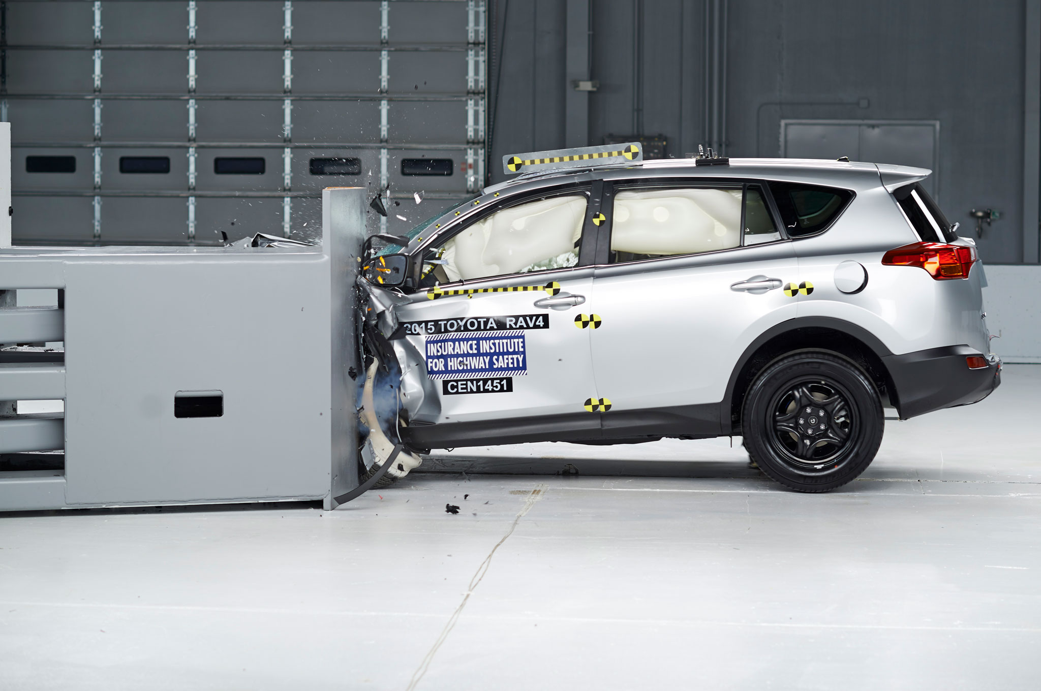 2015 Toyota RAV4 in IIHS testing
