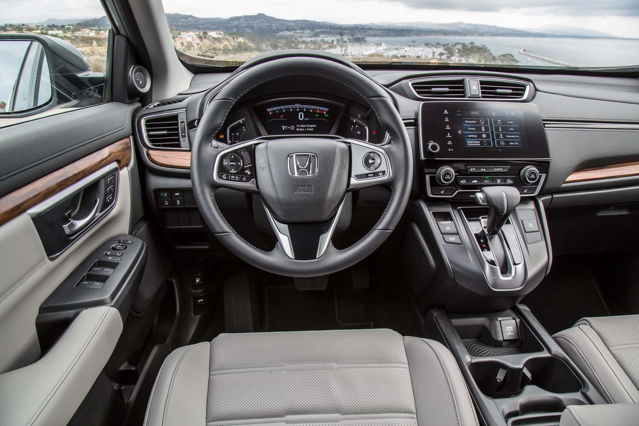 2017 Honda CR V Touring AWD cockpit