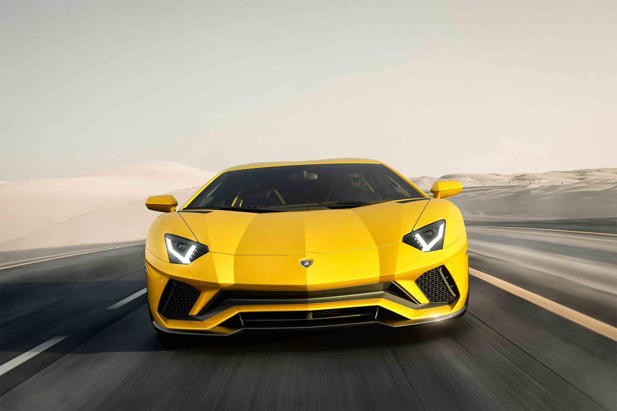 Lamborghini Aventador S Front View In Motion 03 1