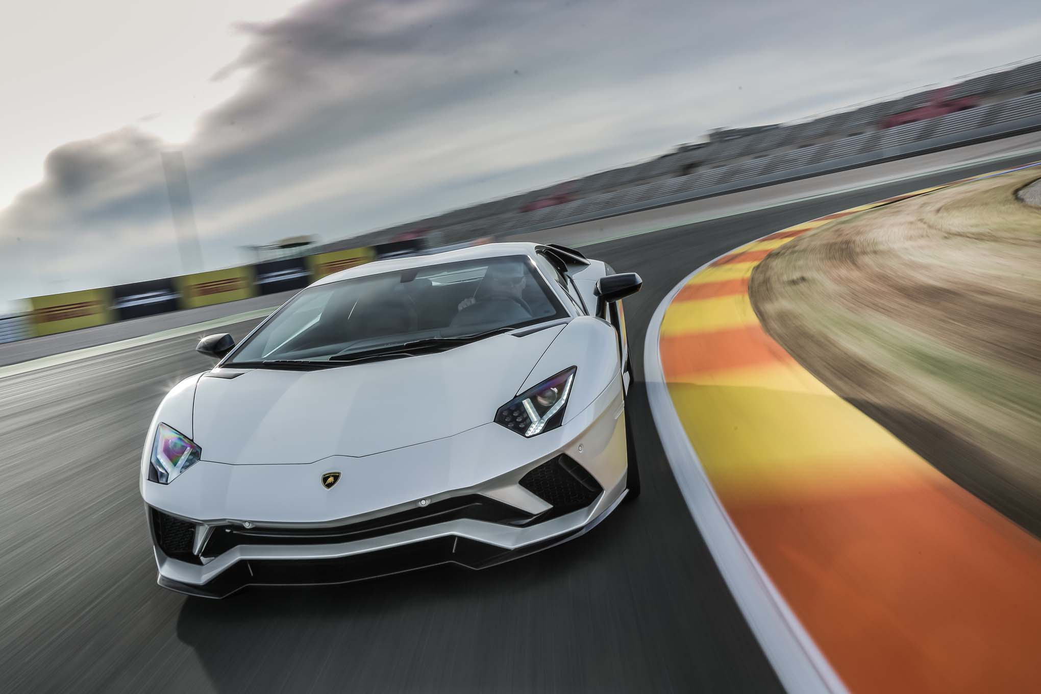 2018 Lamborghini Aventador S Front End In Motion 05 1 Motor Trend