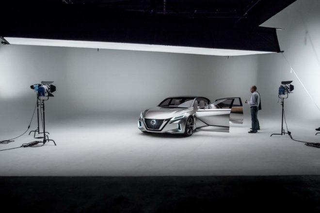 Nissan V Motion 20 Sedan Concept front three quarter studio