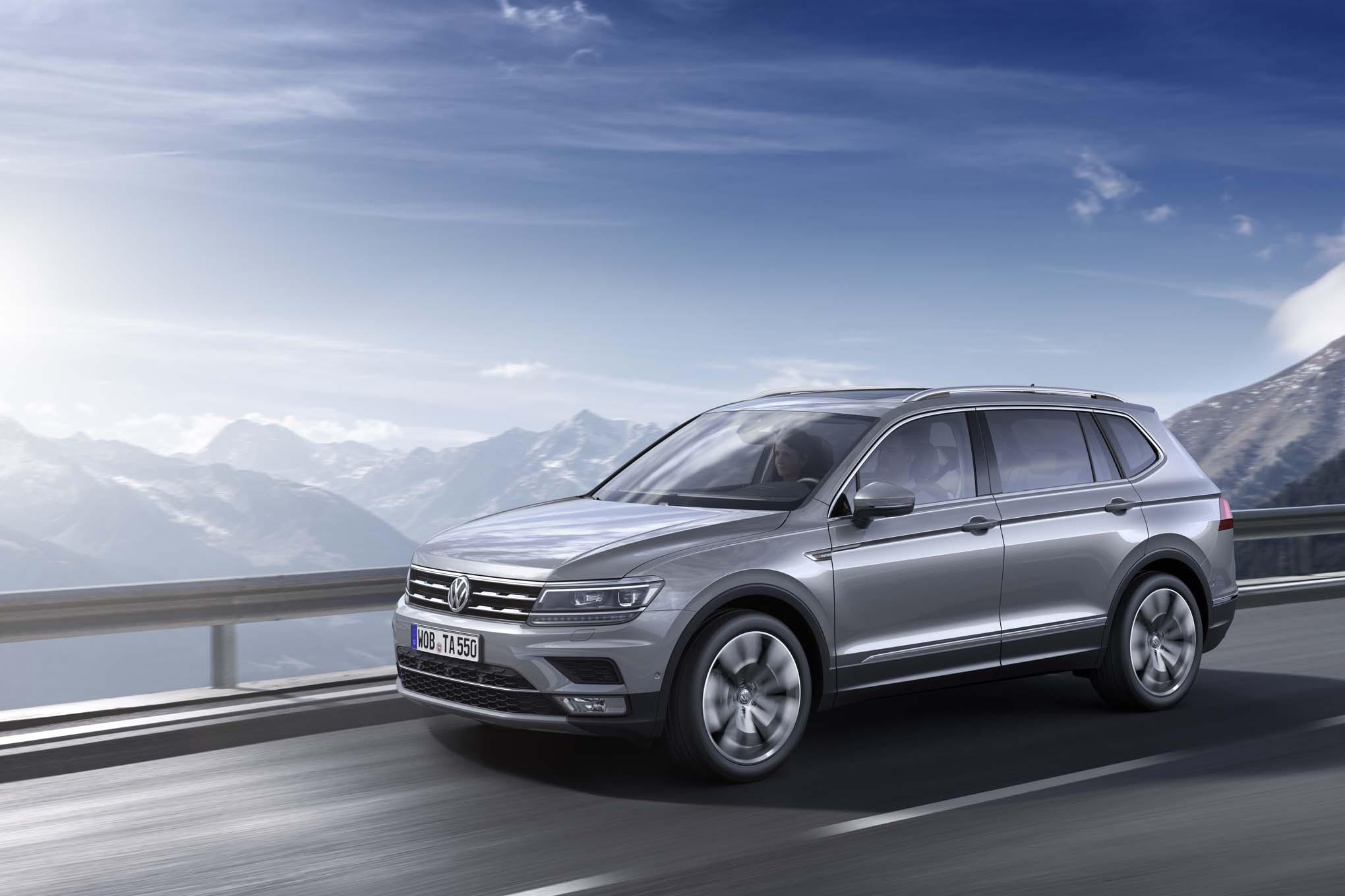European Spec Volkswagen Tiguan Allspace Front Side In Motion