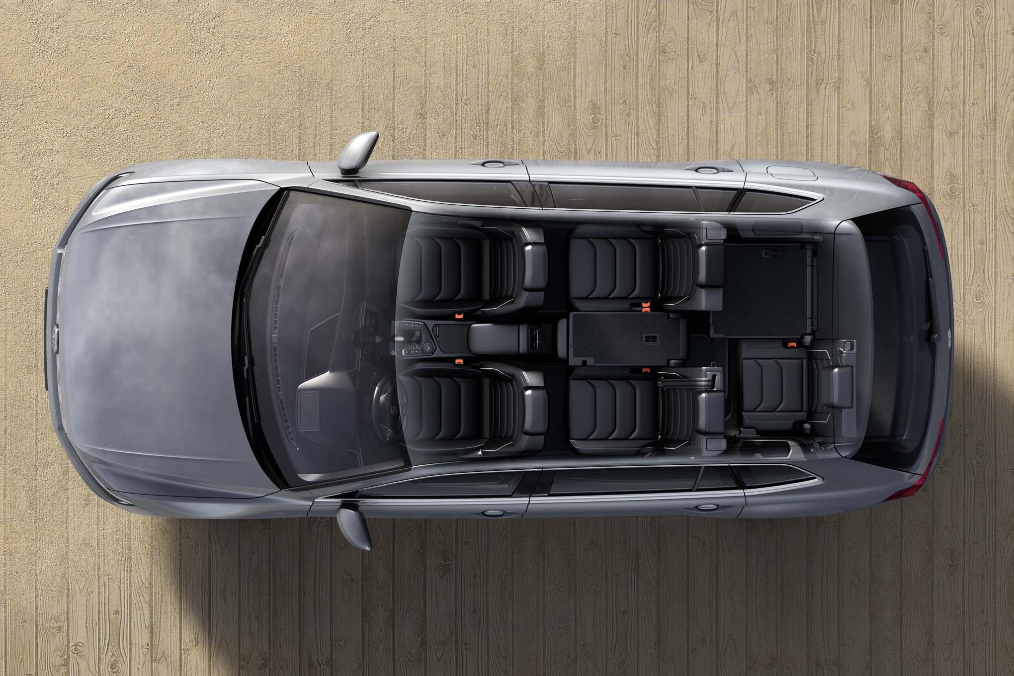 European spec Volkswagen Tiguan Allspace interior seat view