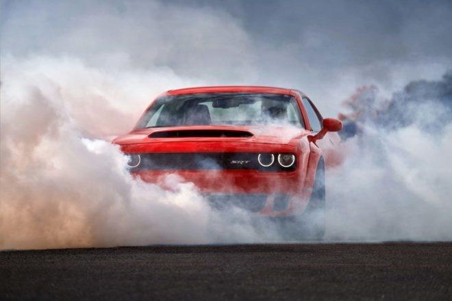 2018 Dodge Challenger SRT Demon front end burnout 05