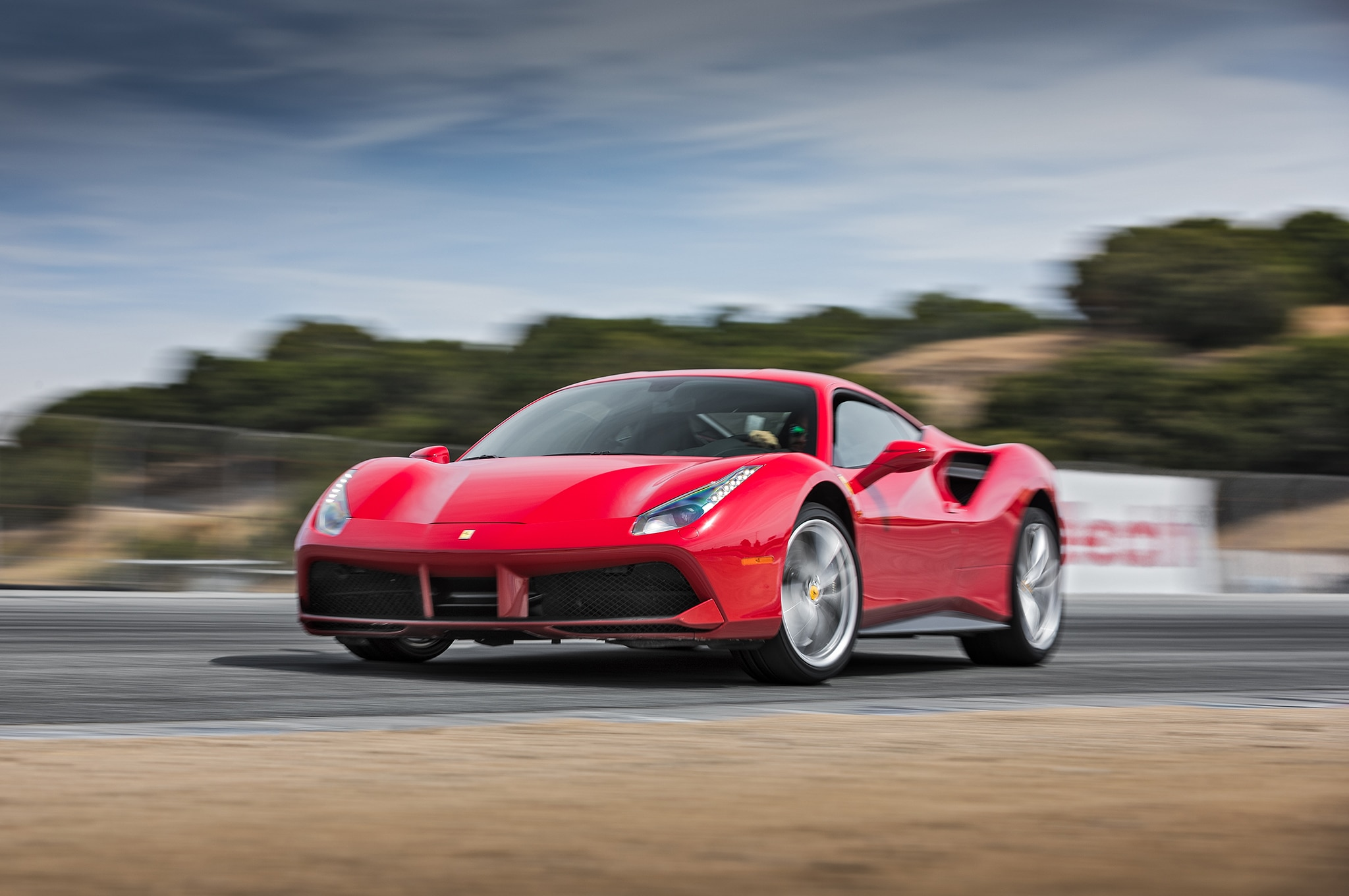2016 Ferrari 488 GTB Front Three Quarter In Motion 01