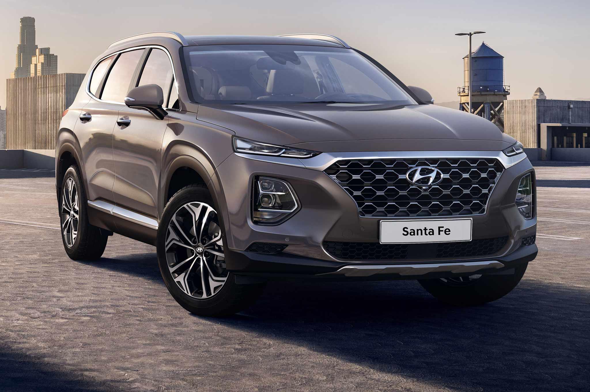 2019 Hyundai Santa Fe Korean Market Front Three Quarter