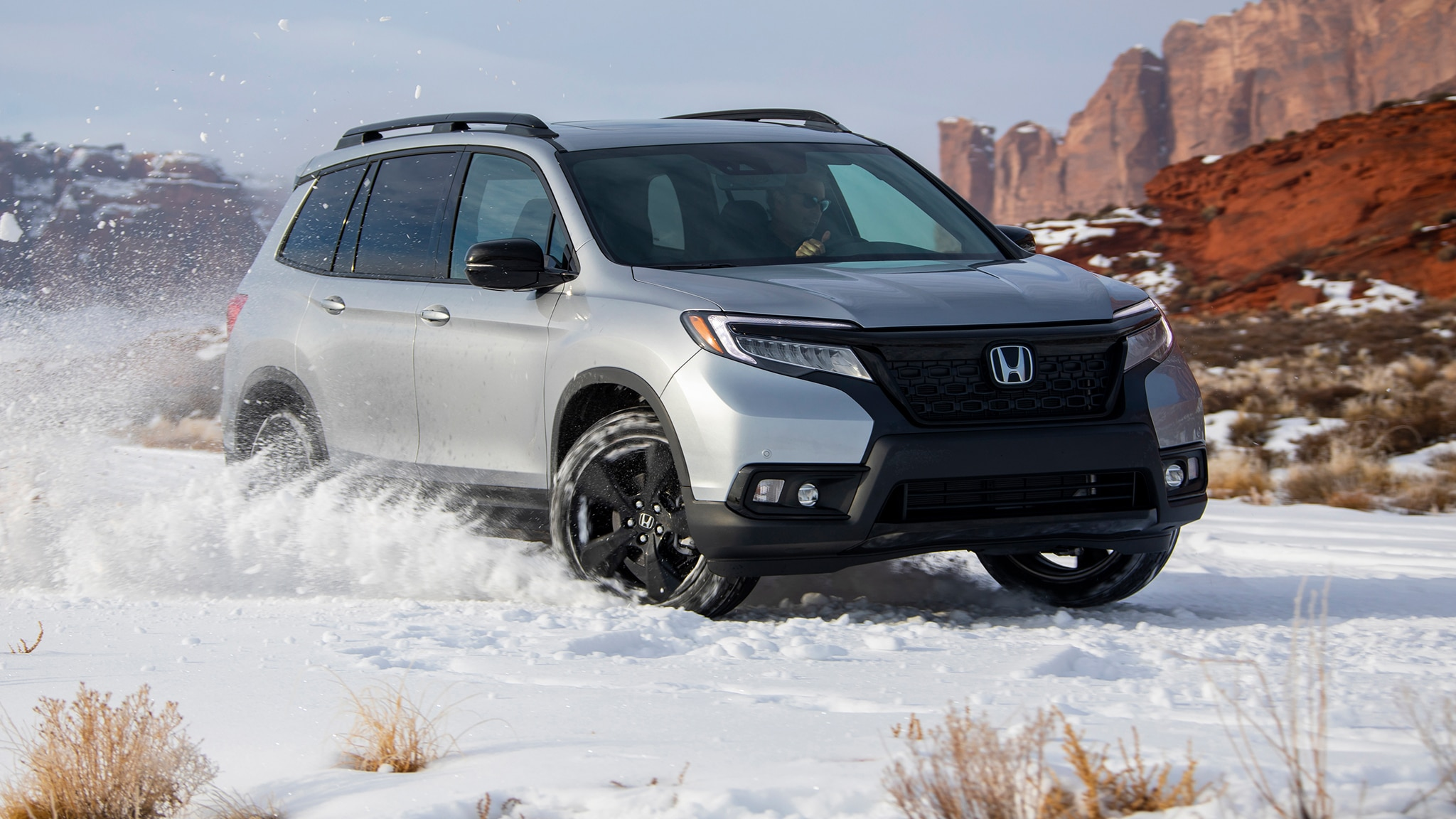 2019 Honda Passport Front Three Quarter In Motion 23