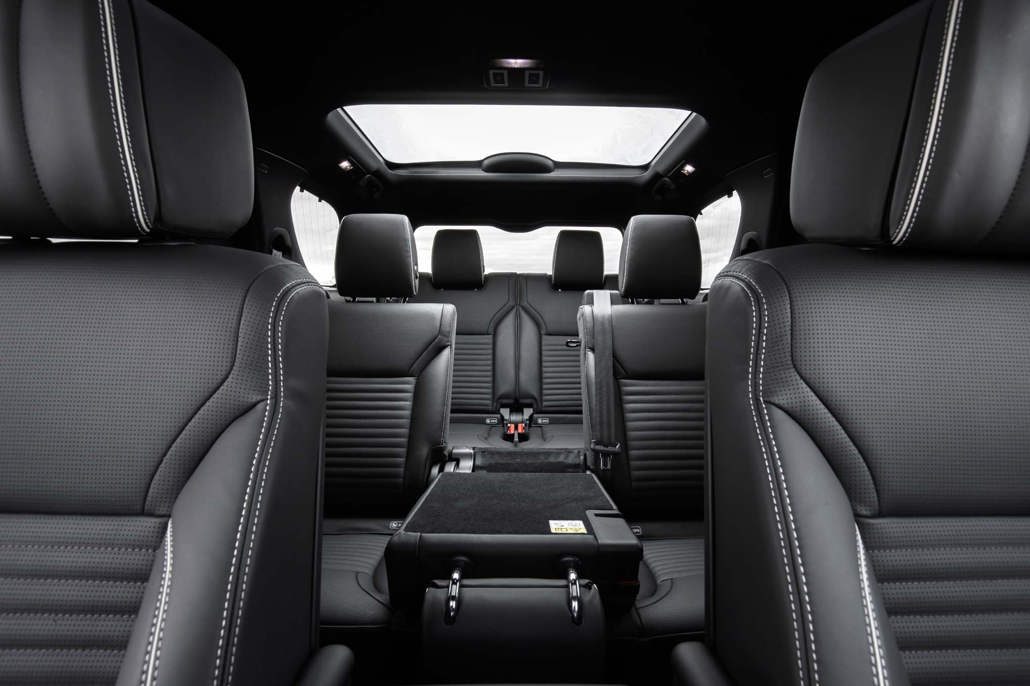 2017 Land Rover Discovery rear interior view