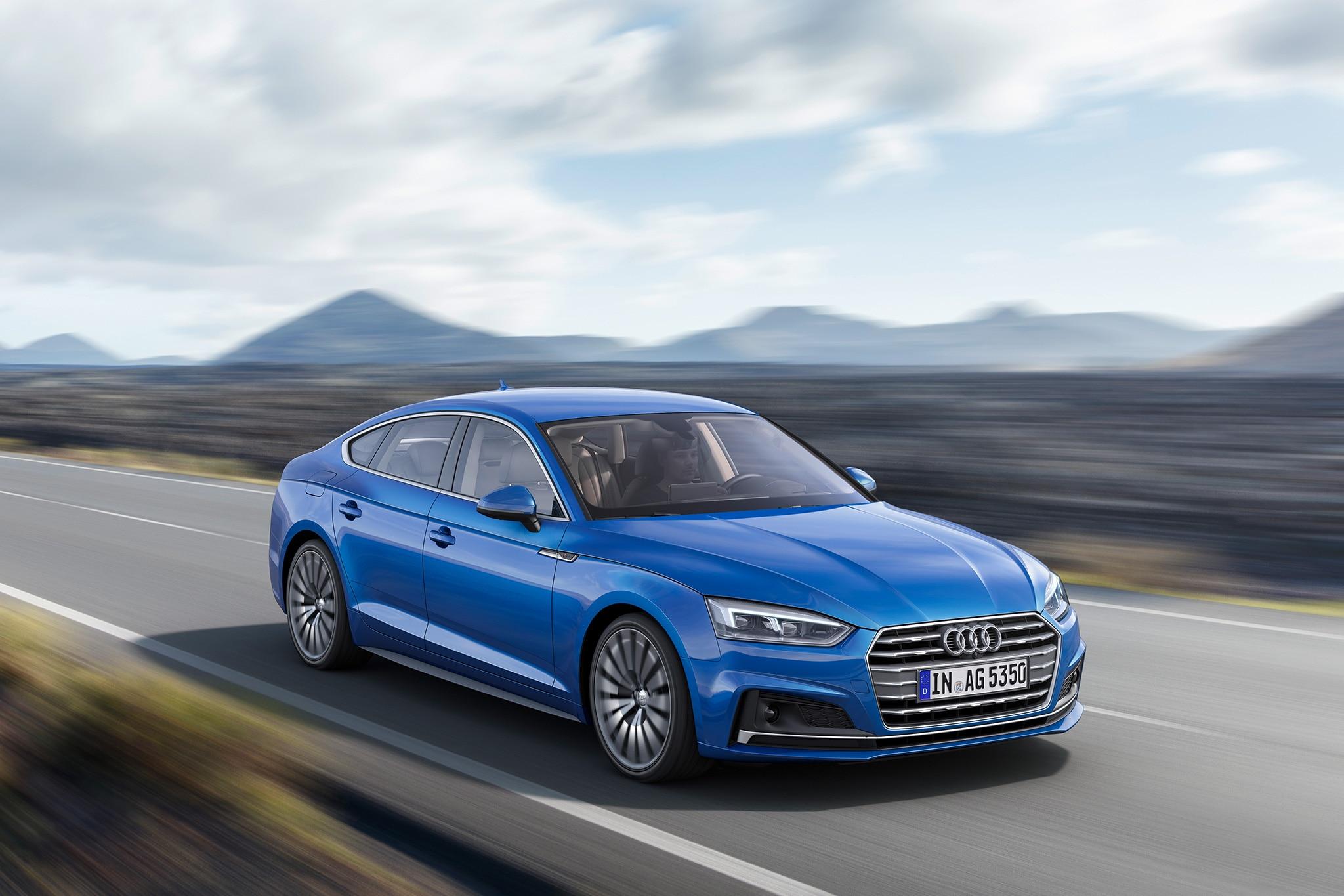 2018 Audi A5 Sportback European Spec Front Three Quarter In Motion 01 1
